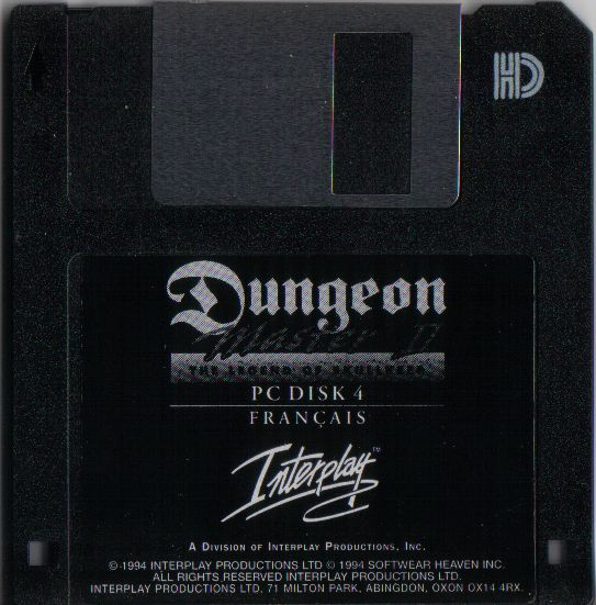 Dungeon Master II for PC - French Floppy Disk 4