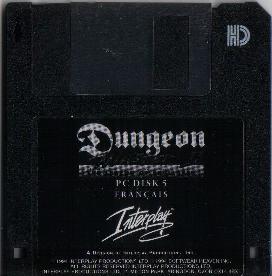 Dungeon Master II for PC - French Floppy Disk 5