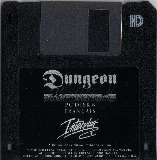 Dungeon Master II for PC - French Floppy Disk 6
