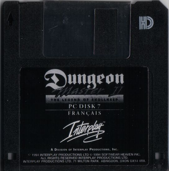 Dungeon Master II for PC - French Floppy Disk 7