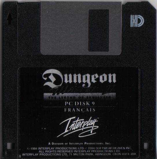 Dungeon Master II for PC - French Floppy Disk 9