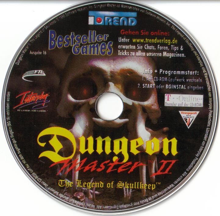 Dungeon Master II for PC (German, Best Seller Games) - CD