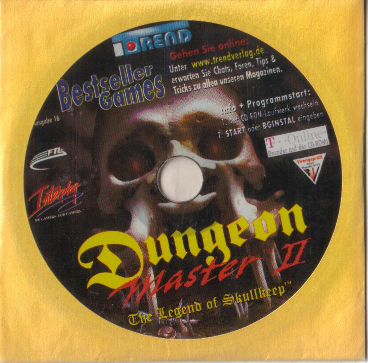 Dungeon Master II for PC (German, Best Seller Games) - CD Sleeve Front