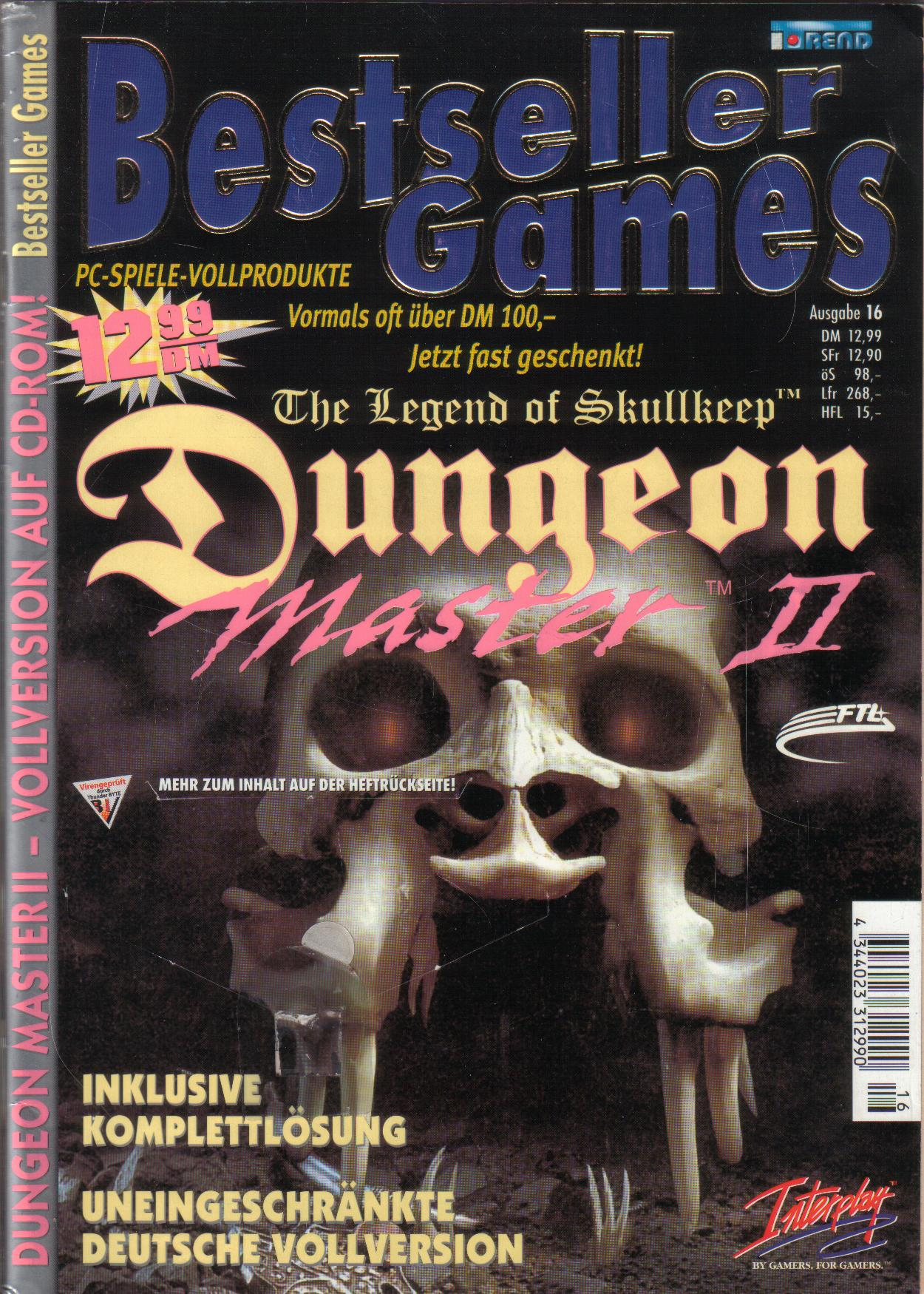 Dungeon Master II for PC (German, Best Seller Games) Page 1