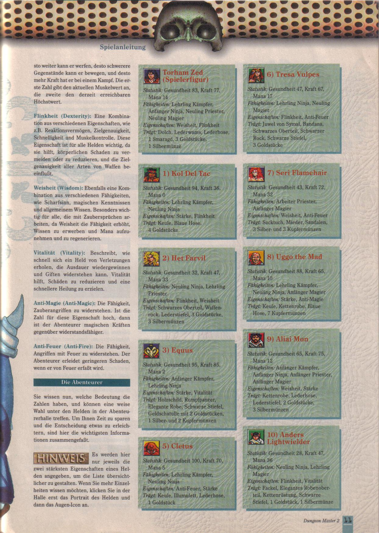 Dungeon Master II for PC (German, Best Seller Games) Page 11