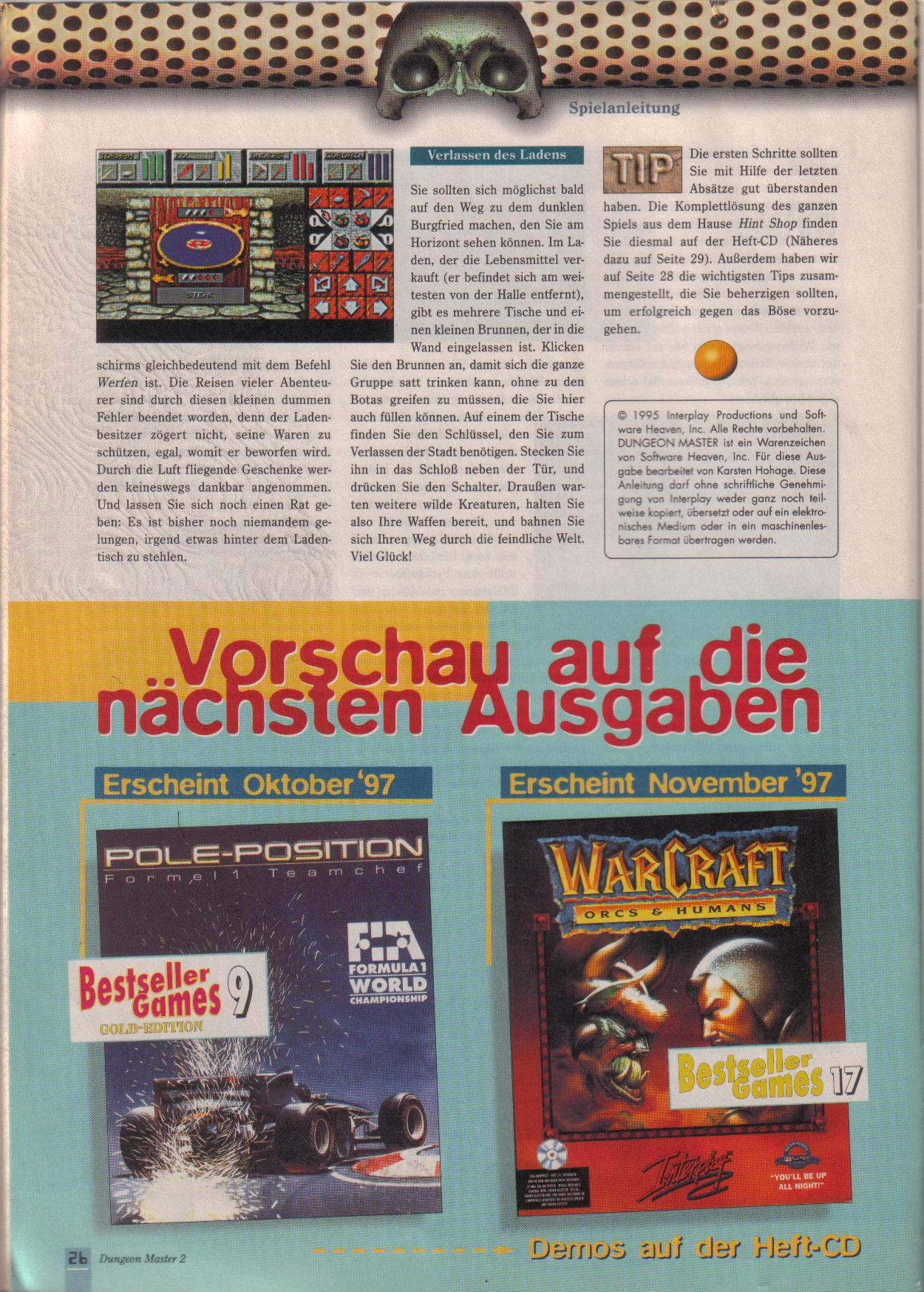 Dungeon Master II for PC (German, Best Seller Games) Page 26