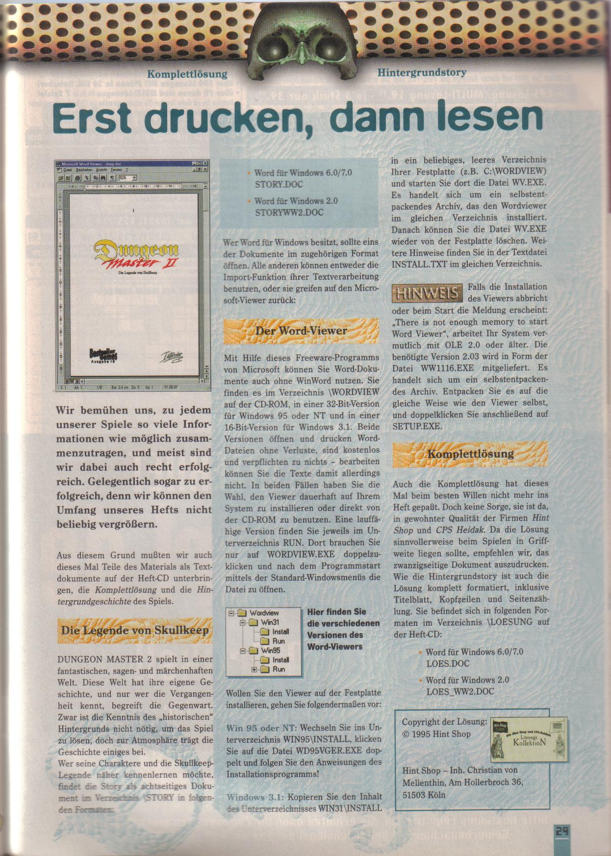Dungeon Master II for PC (German, Best Seller Games) Page 29