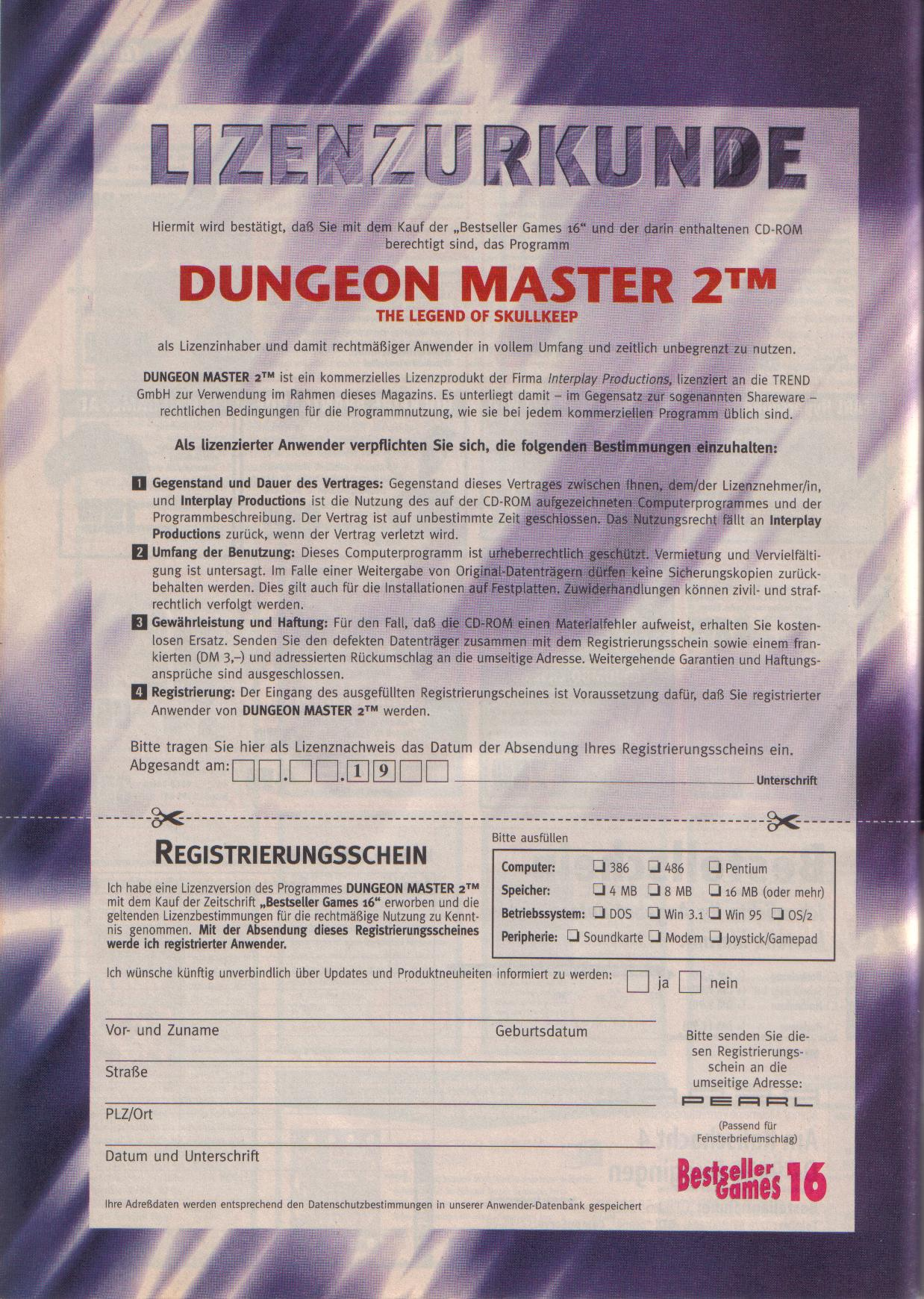 Dungeon Master II for PC (German, Best Seller Games) Page 50