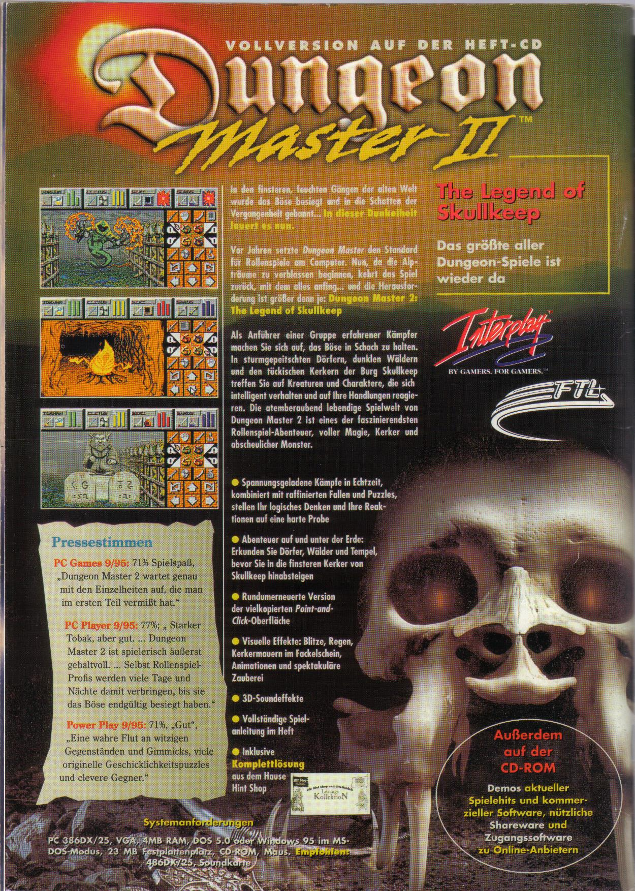 Dungeon Master II for PC (German, Best Seller Games) Page 52