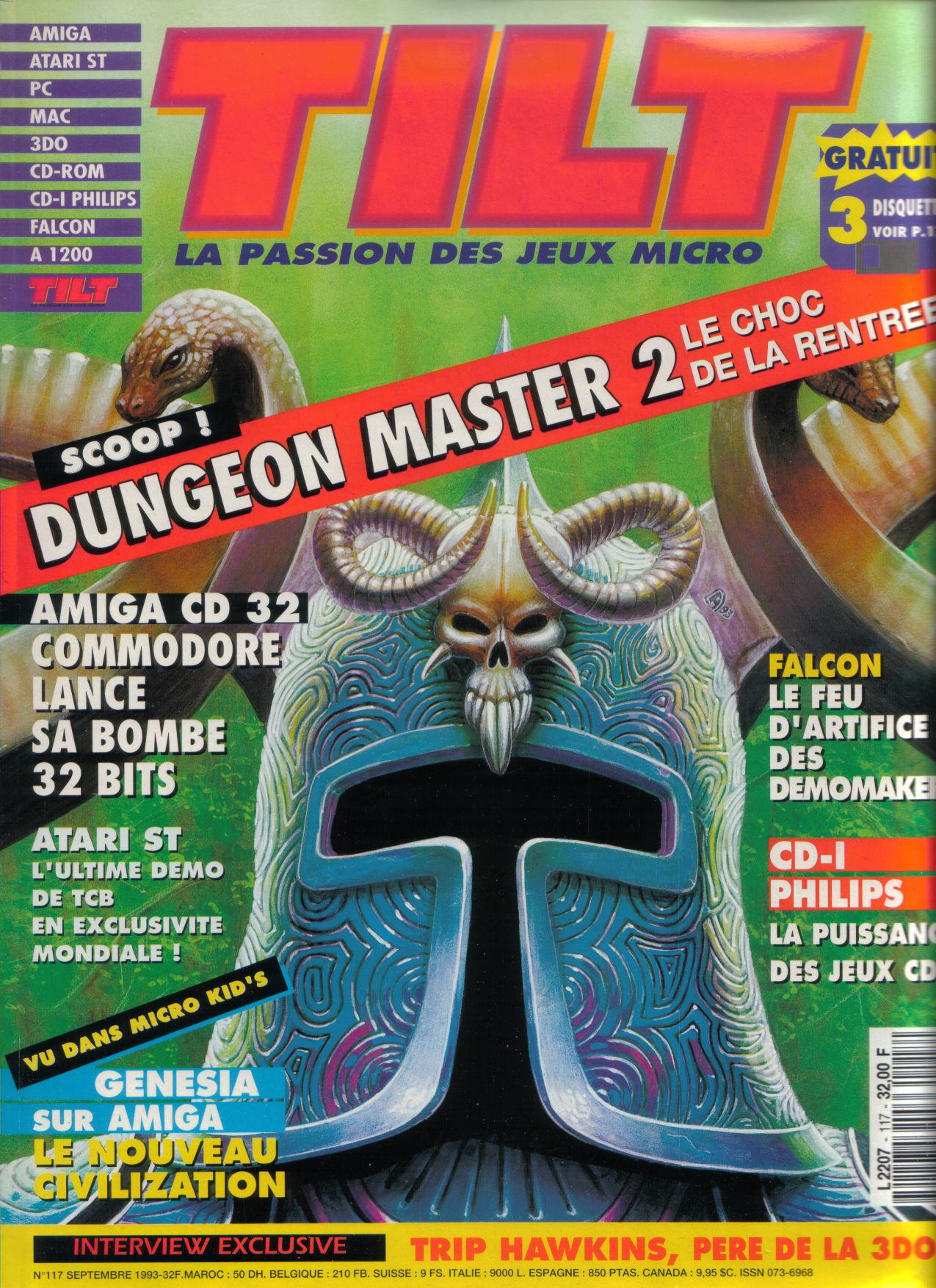 Dungeon Master II for PC / Amiga / Atari ST Preview published in French magazine 'Tilt', Issue #117, September 1993, Cover
