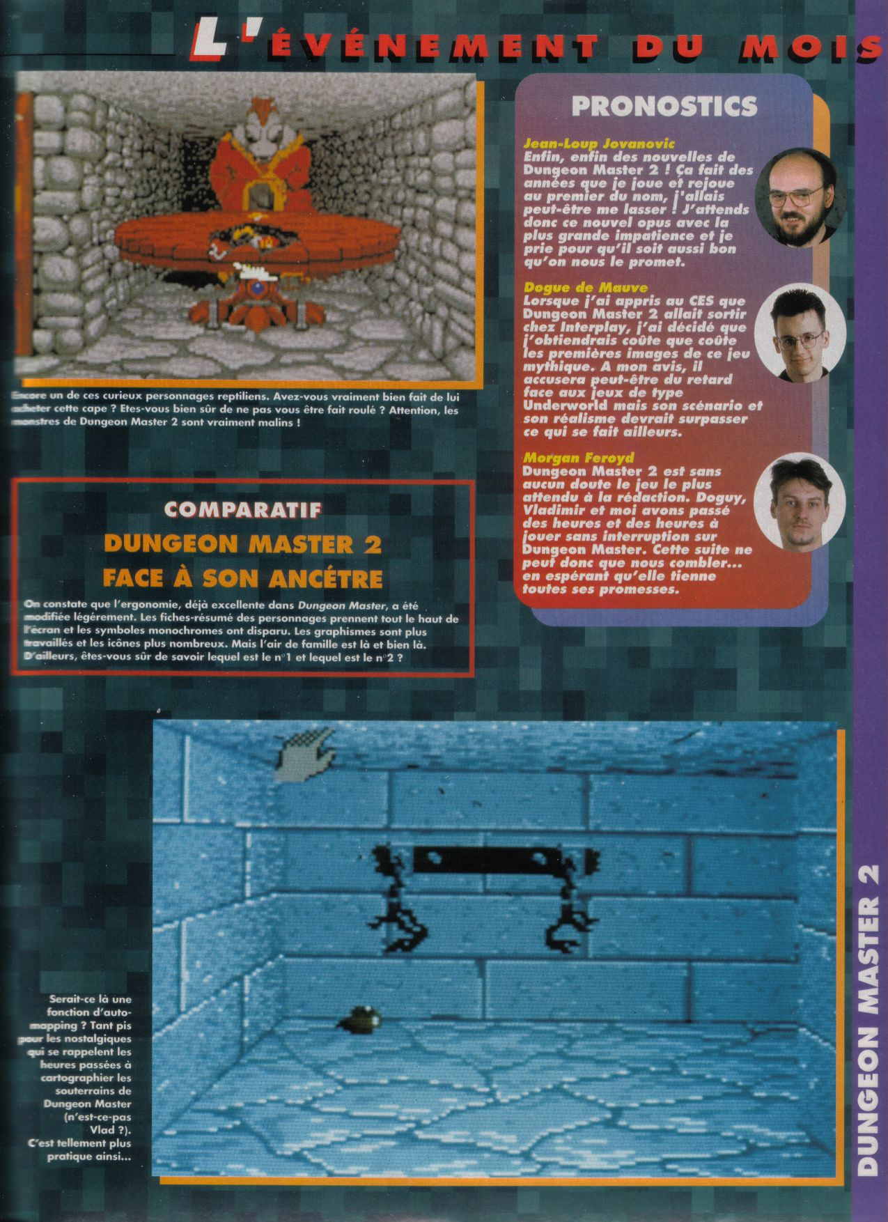 Dungeon Master II for PC / Amiga / Atari ST Preview published in French magazine 'Tilt', Issue #117, September 1993, Page 17