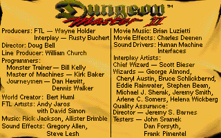 Dungeon Master II for Amiga Screenshot - Credits