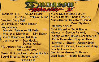 Dungeon Master II for Macintosh Screenshot - Credits