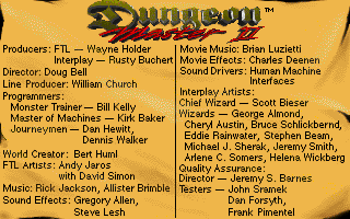 Dungeon Master II for PC Screenshot - Credits