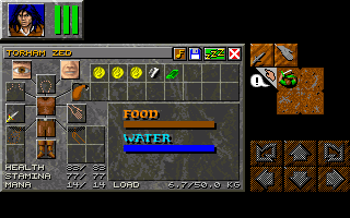 Dungeon Master II for PC Screenshot - In game inventory