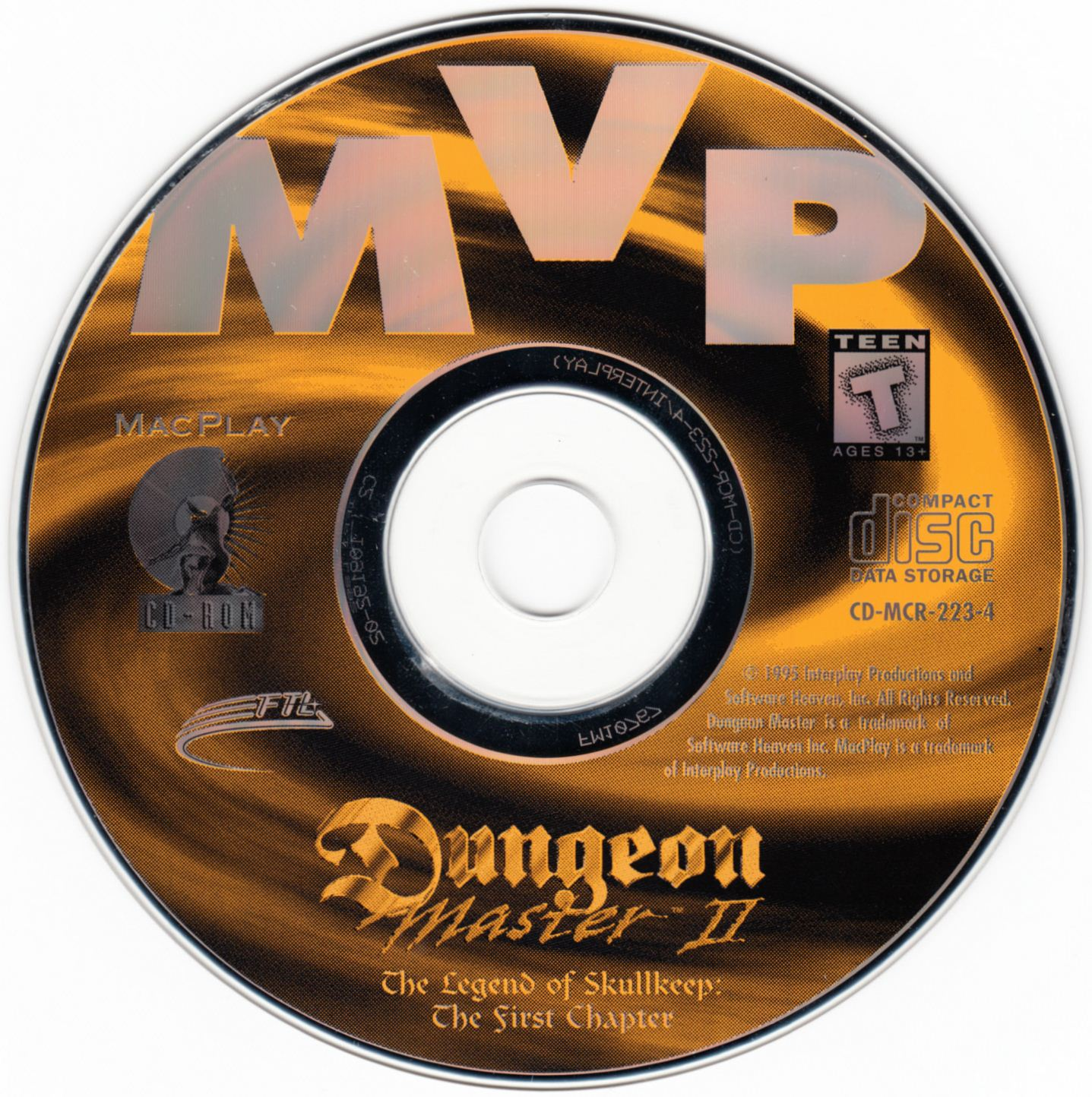 Demo - Dungeon Master II - US - Macintosh - Compact Disc - Front - Scan