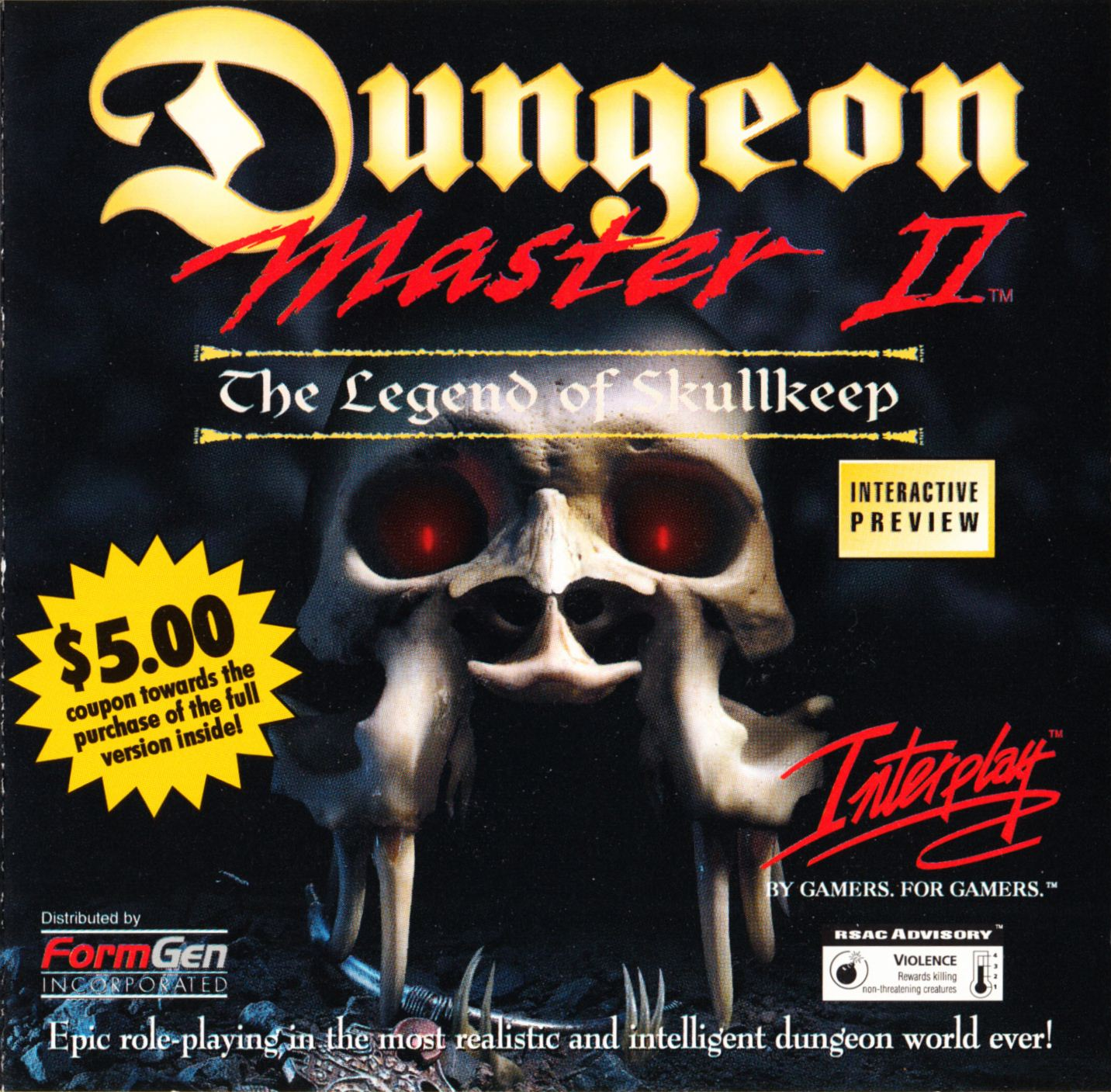 Demo - Dungeon Master II - US - PC - Booklet - Page 001 - Scan