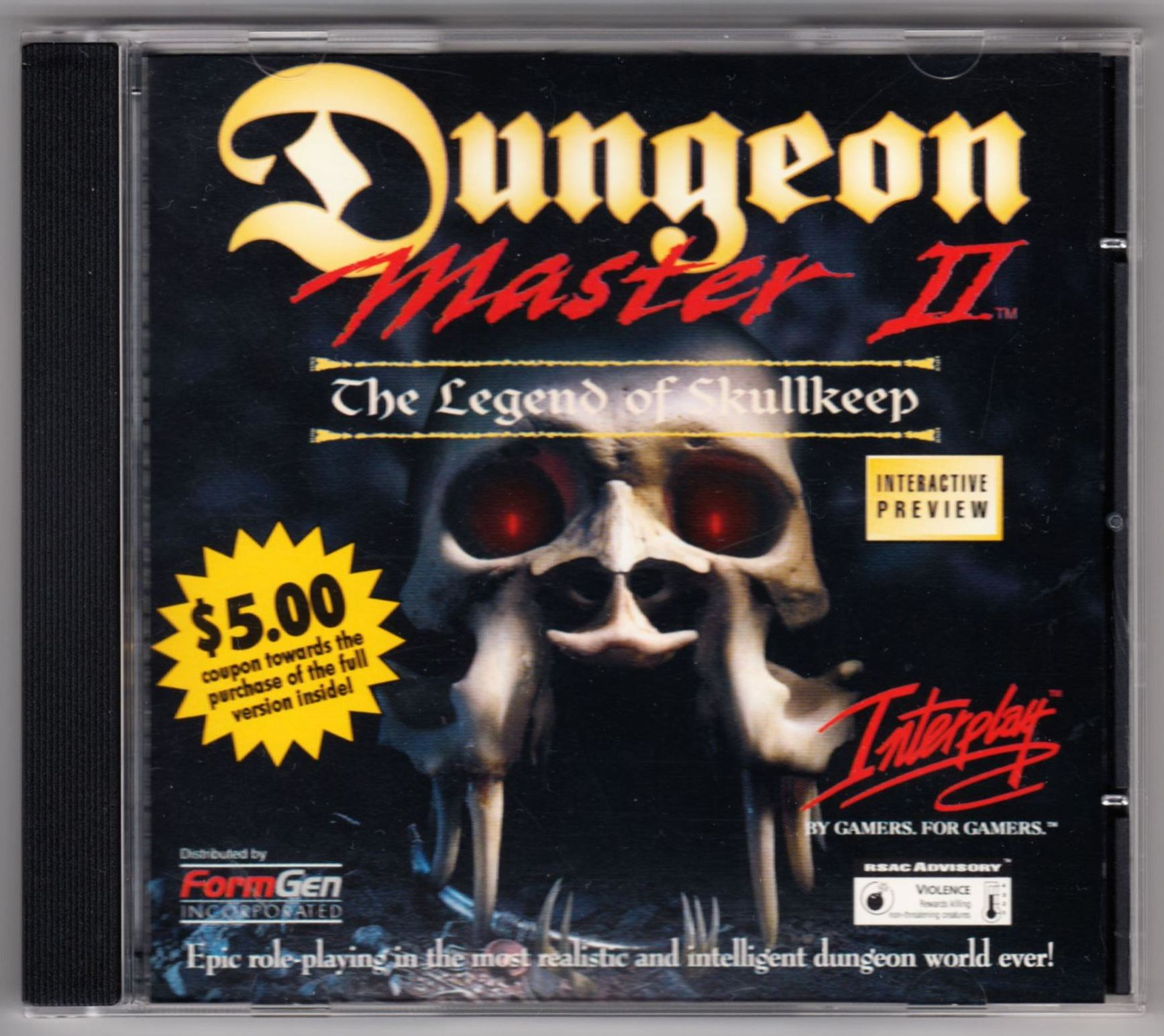Demo - Dungeon Master II - US - PC - Box - Front - Scan
