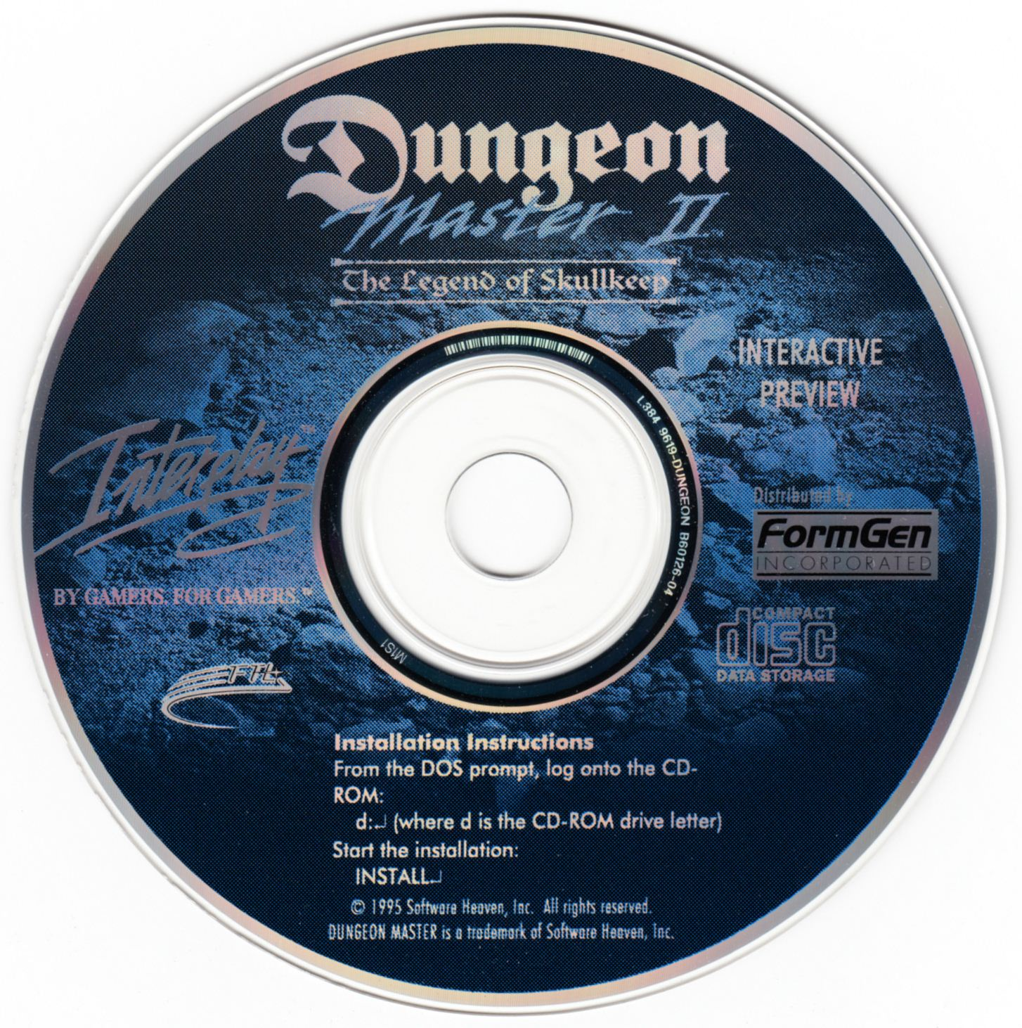 Demo - Dungeon Master II - US - PC - Compact Disc - Front - Scan