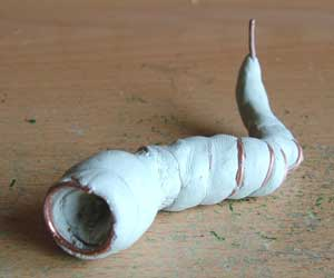 Sculpture of Magenta Worm - Step 2