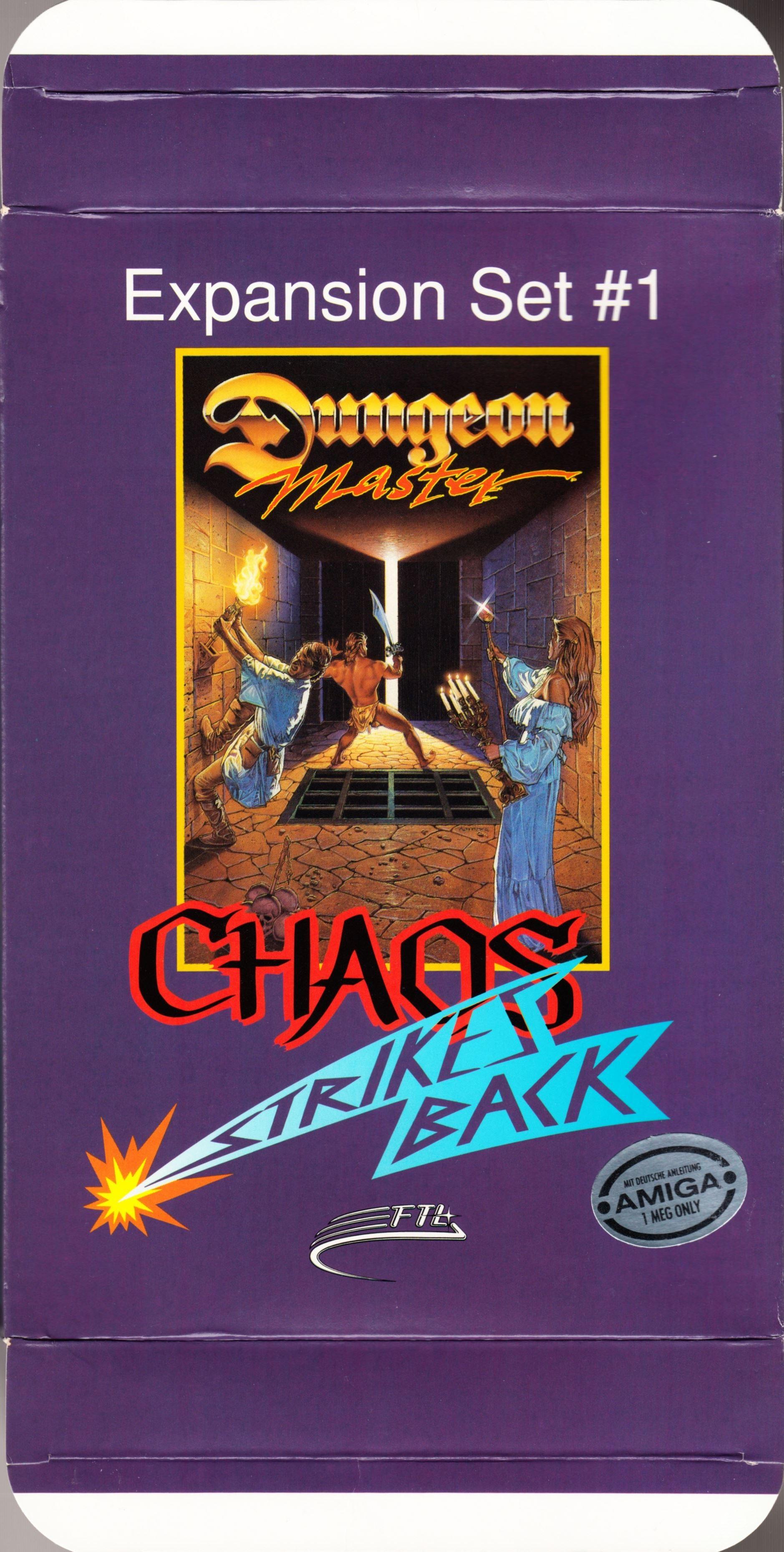 Game - Chaos Strikes Back - DE - Amiga - Box - Front Top Bottom - Scan
