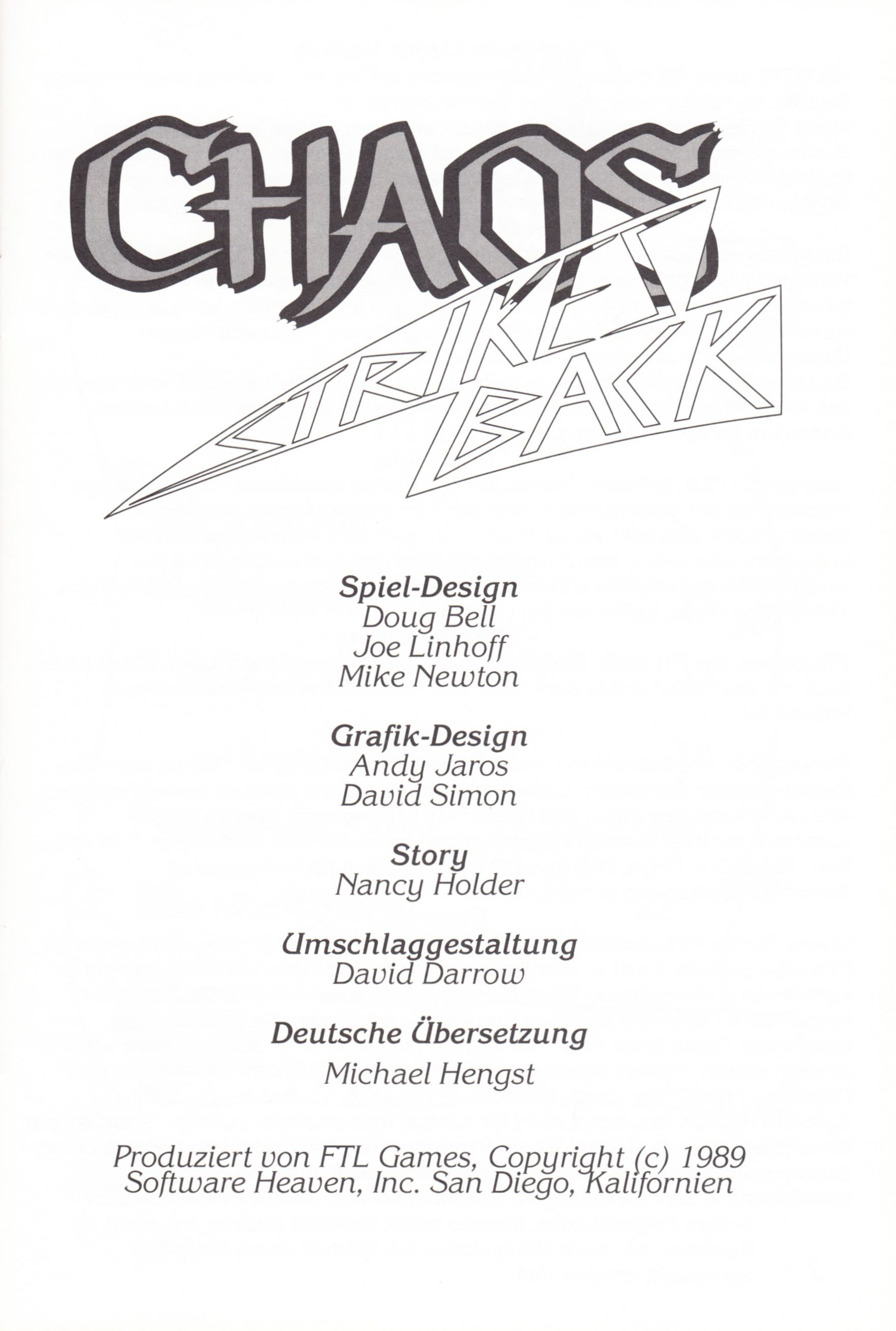 Game - Chaos Strikes Back - DE - Amiga - Manual - Page 003 - Scan
