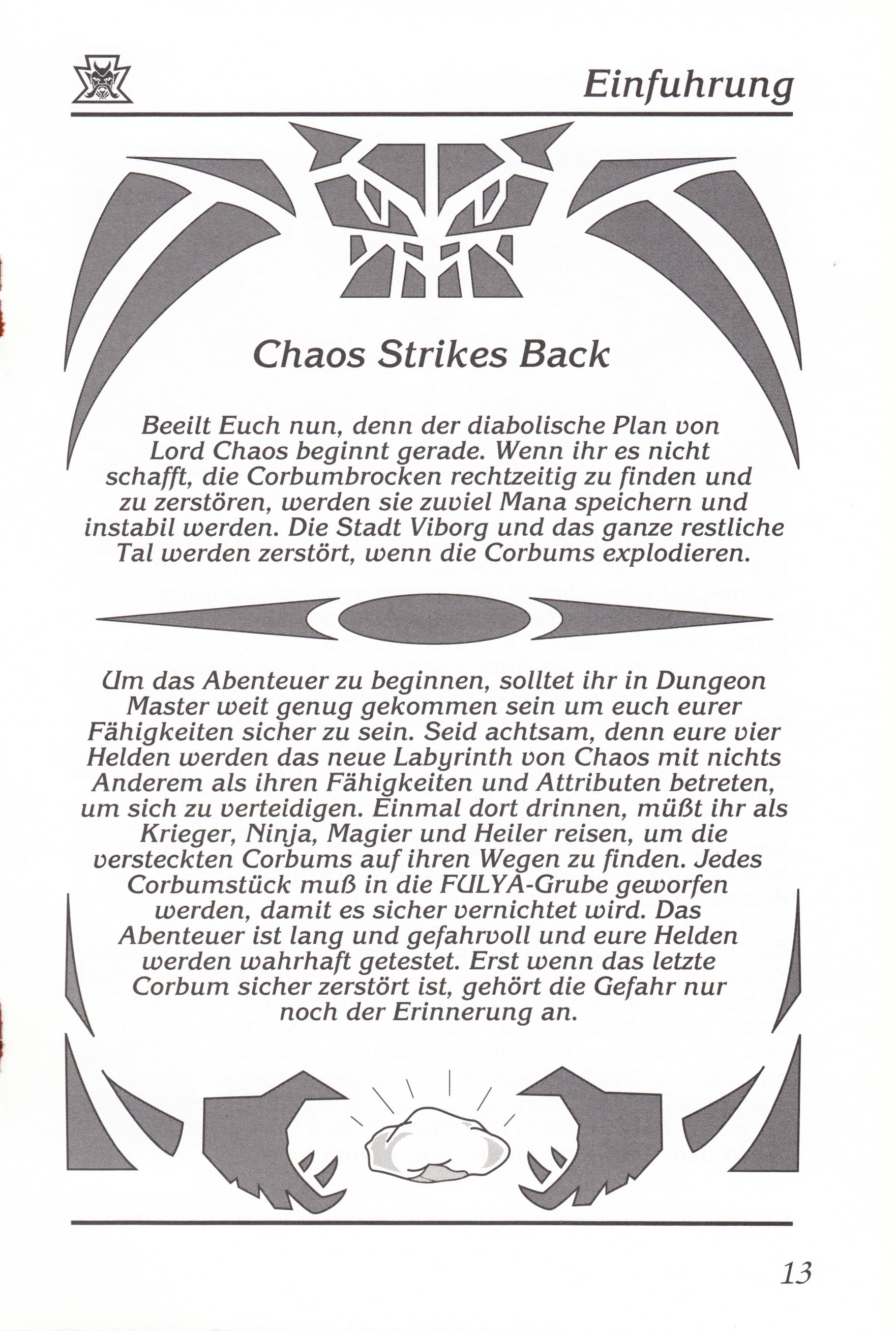 Game - Chaos Strikes Back - DE - Amiga - Manual - Page 015 - Scan