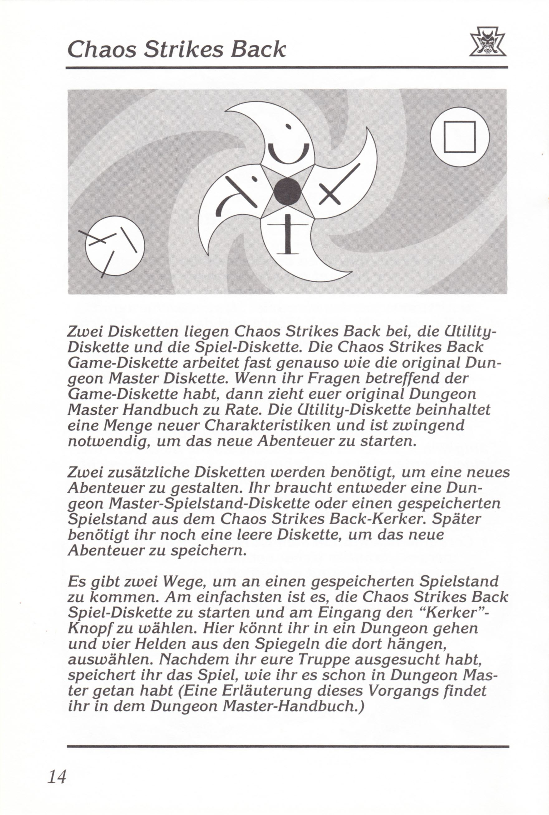Game - Chaos Strikes Back - DE - Amiga - Manual - Page 016 - Scan