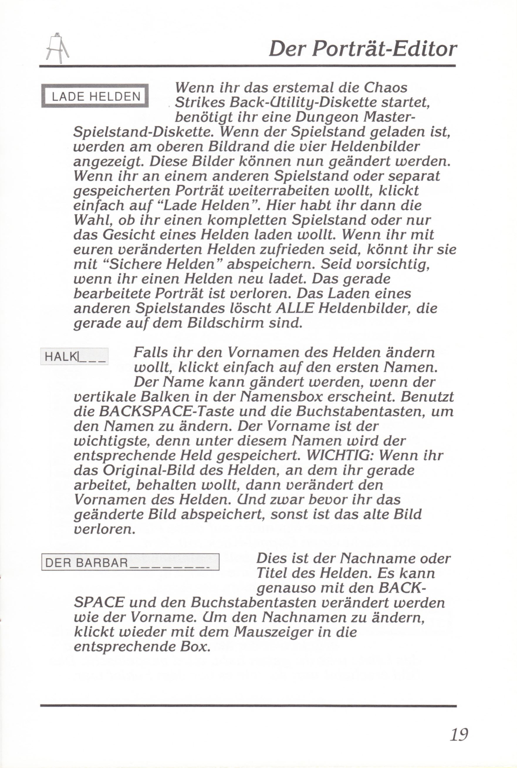 Game - Chaos Strikes Back - DE - Amiga - Manual - Page 021 - Scan