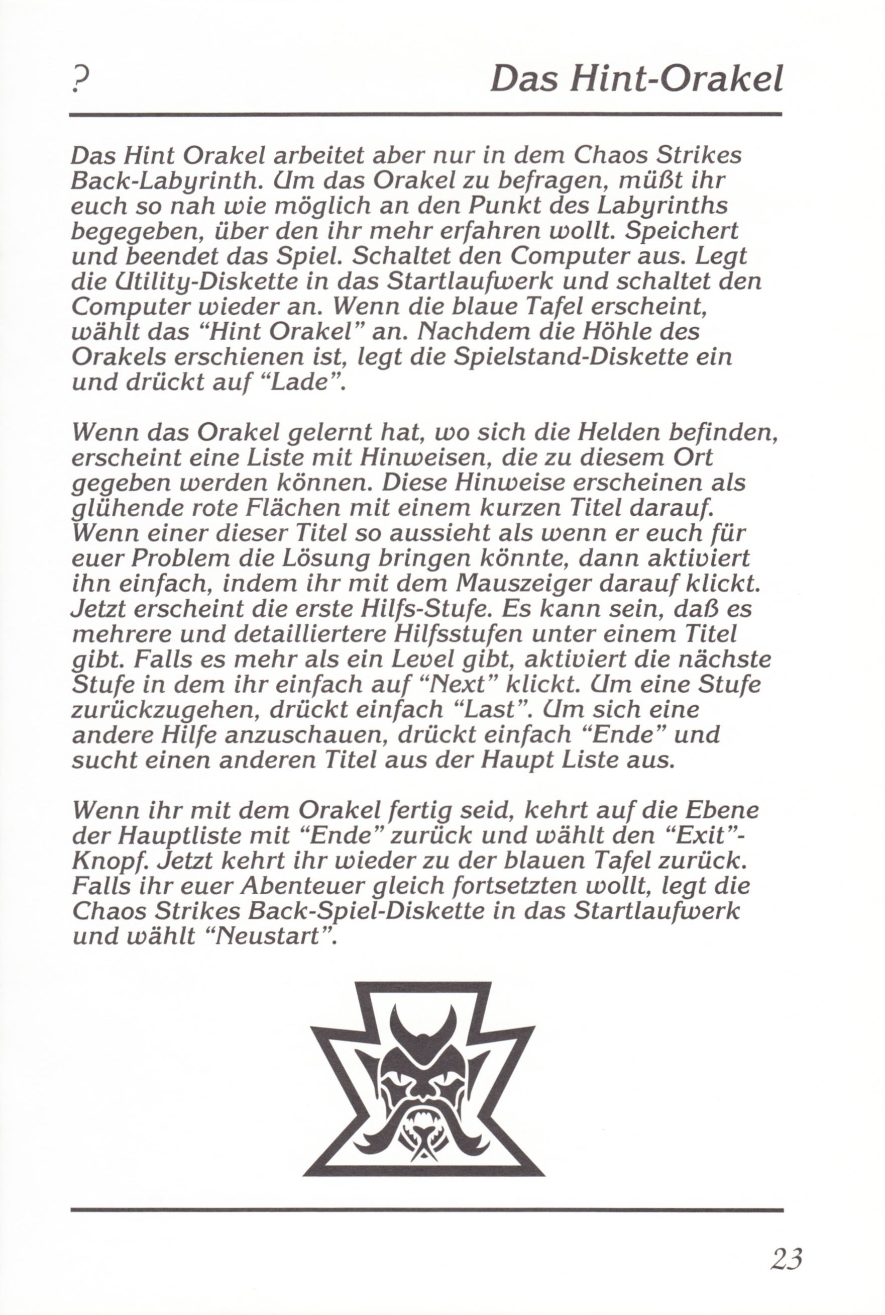Game - Chaos Strikes Back - DE - Amiga - Manual - Page 025 - Scan