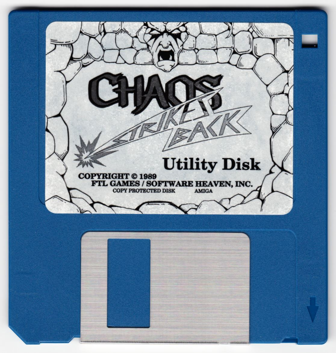 Game - Chaos Strikes Back - DE - Amiga - Utility Disk - Front - Scan