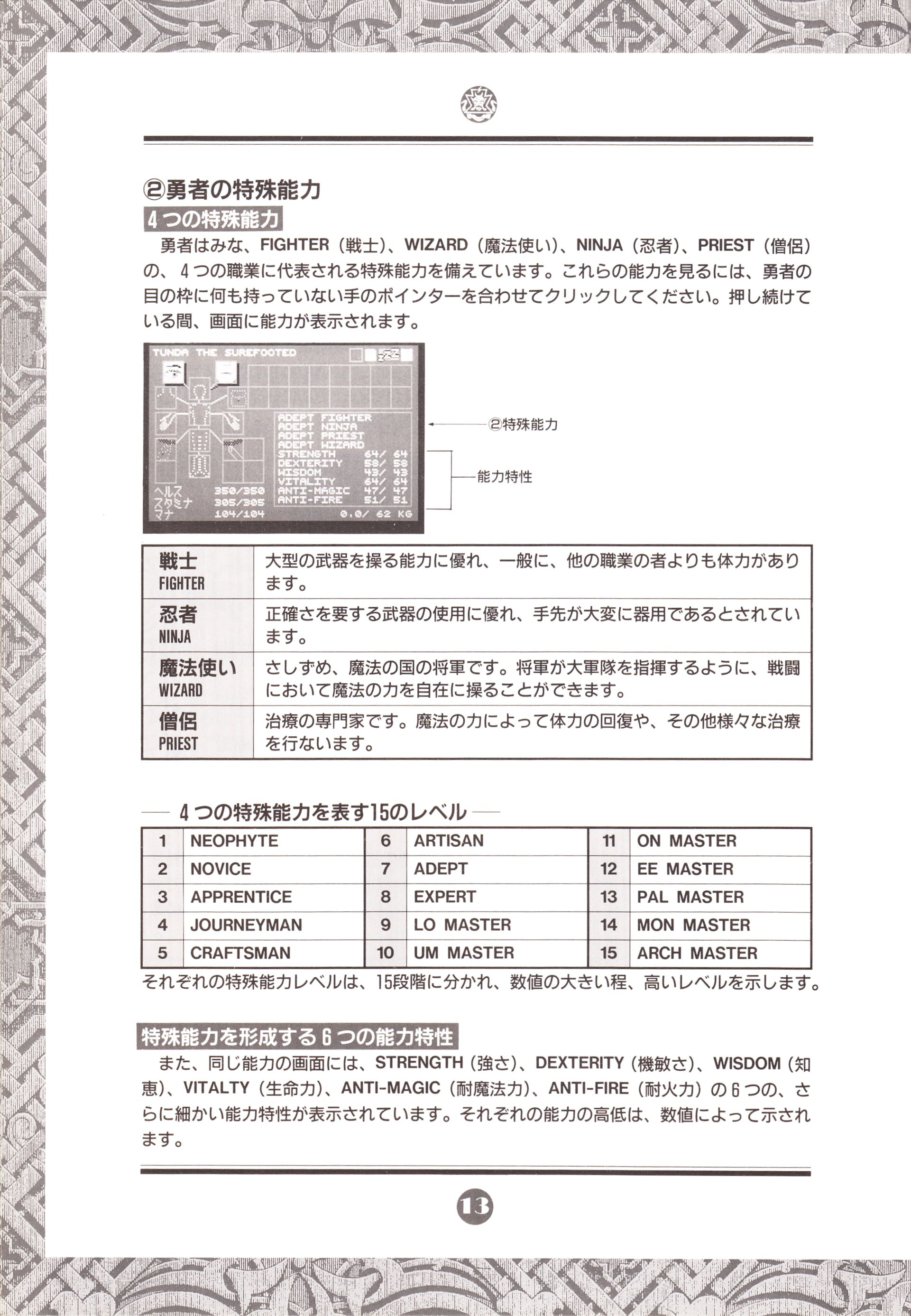 Game - Chaos Strikes Back - JP - PC-9801 - 3-5-inch - An Operation Manual - Page 016 - Scan