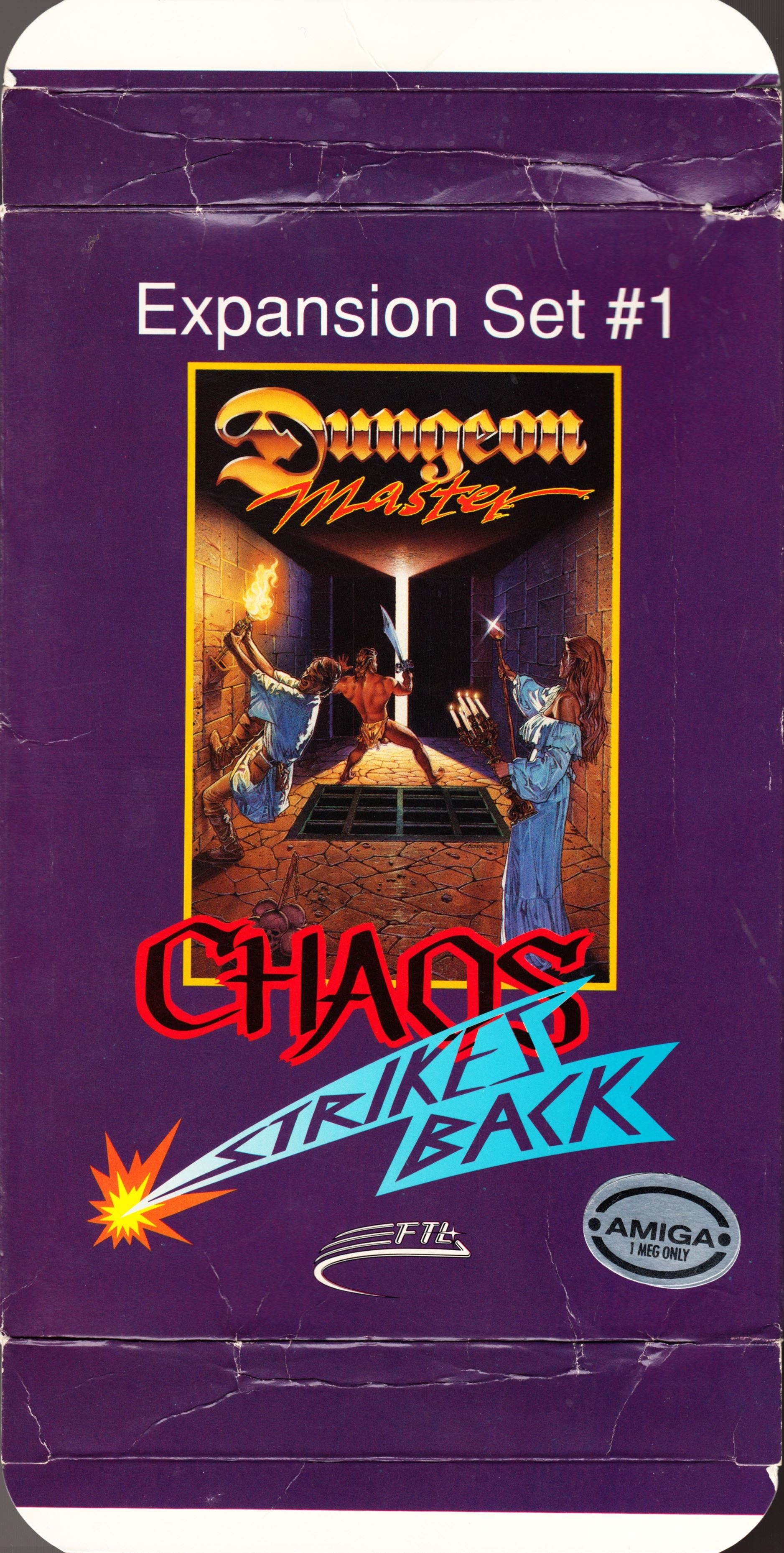 Game - Chaos Strikes Back - UK - Amiga - Box - Front Top Bottom - Scan