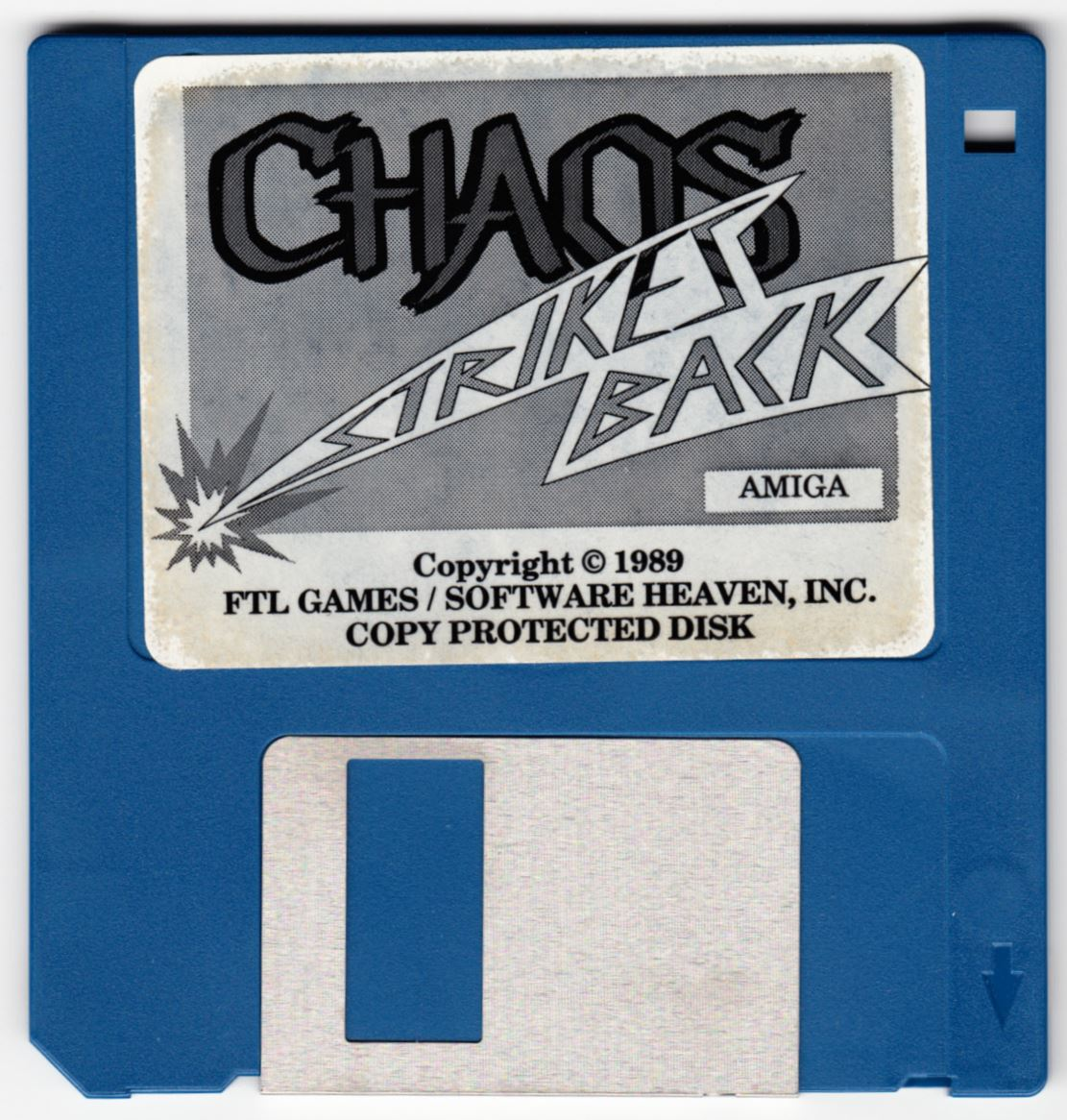 Game - Chaos Strikes Back - UK - Amiga - Game Disk - Front - Scan
