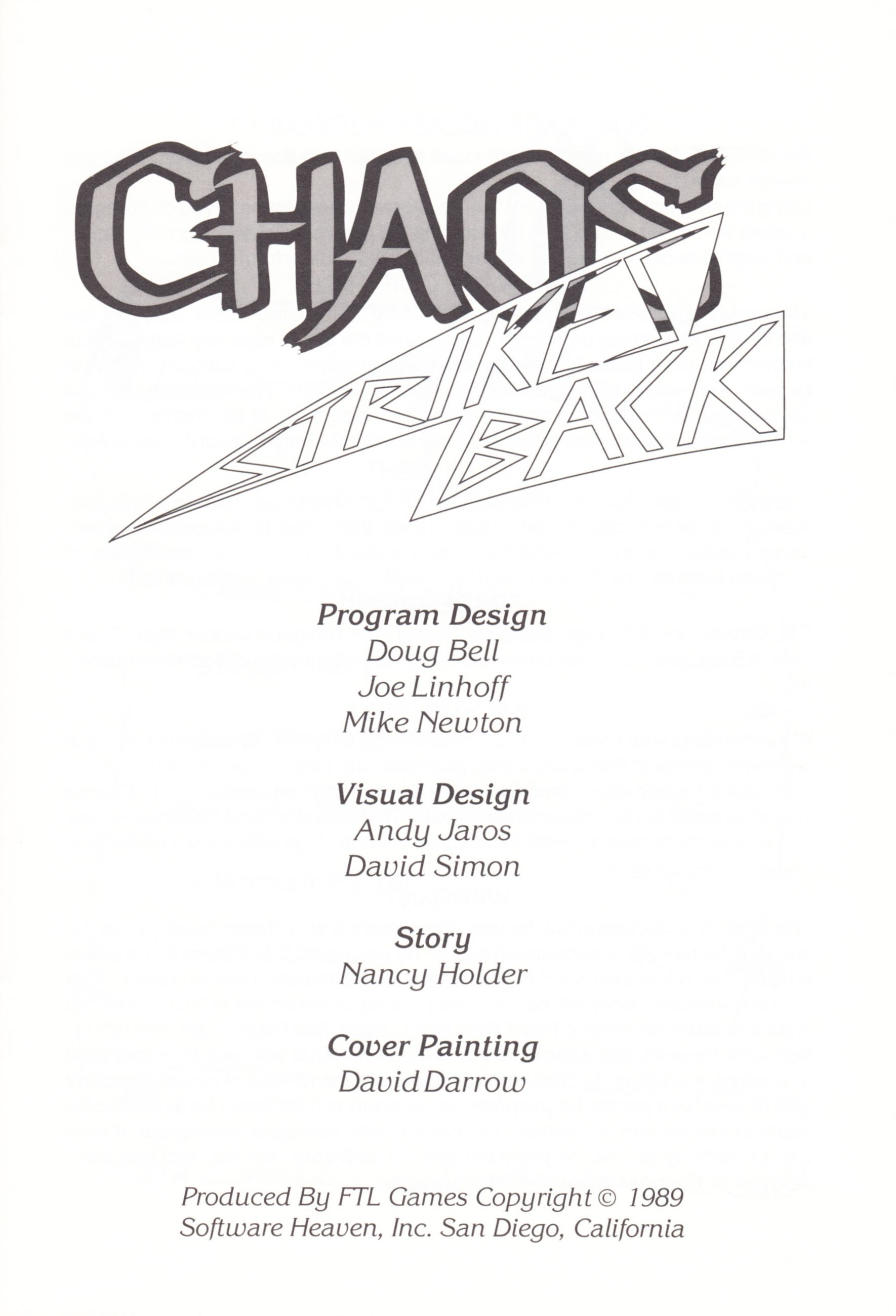 Game - Chaos Strikes Back - UK - Amiga - Manual - Page 003 - Scan