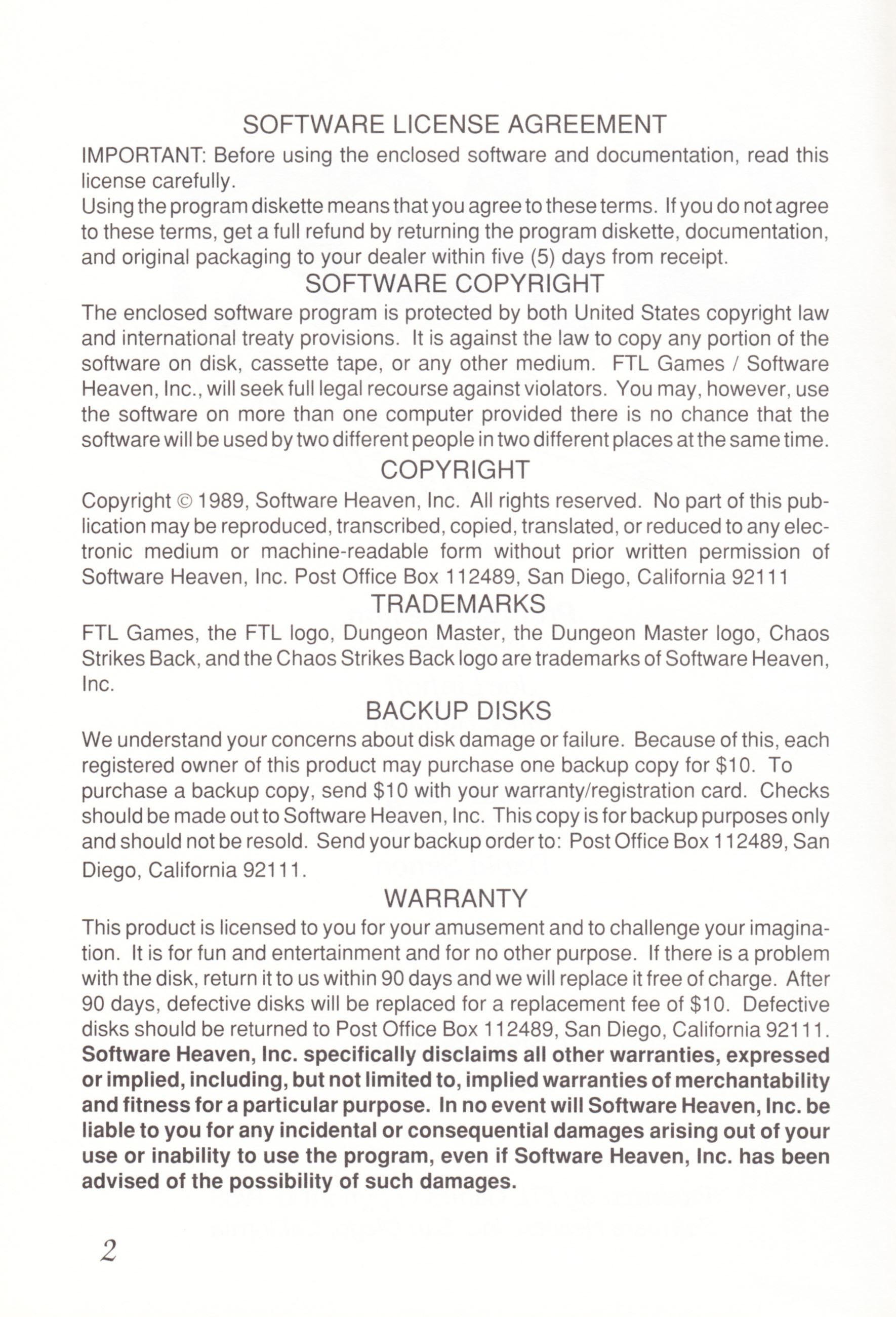 Game - Chaos Strikes Back - UK - Amiga - Manual - Page 004 - Scan