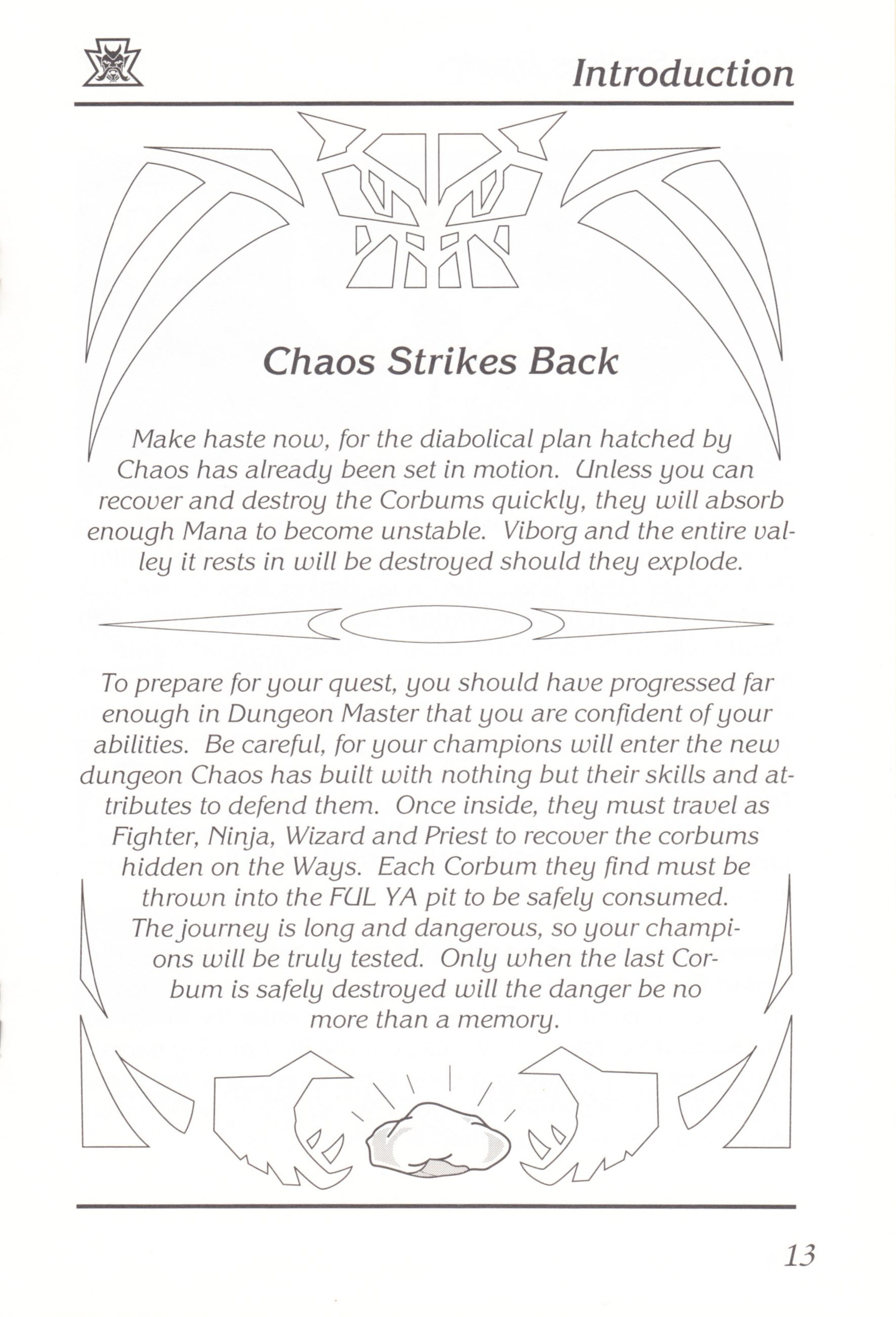 Game - Chaos Strikes Back - UK - Amiga - Manual - Page 015 - Scan