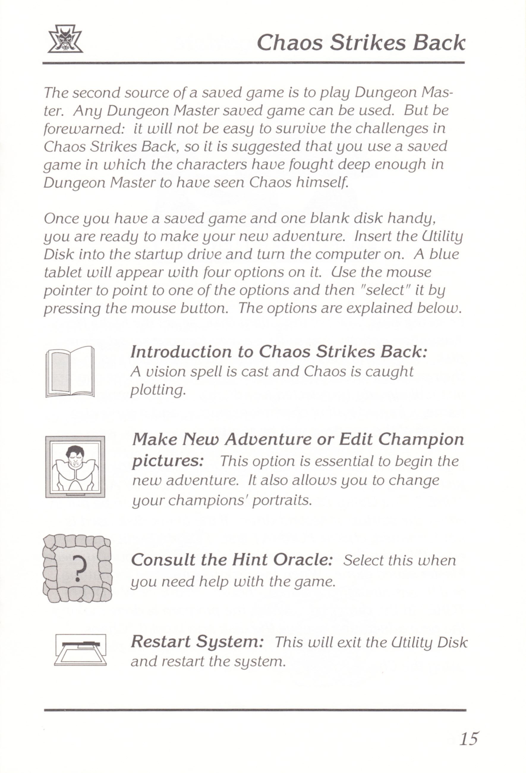 Game - Chaos Strikes Back - UK - Amiga - Manual - Page 017 - Scan