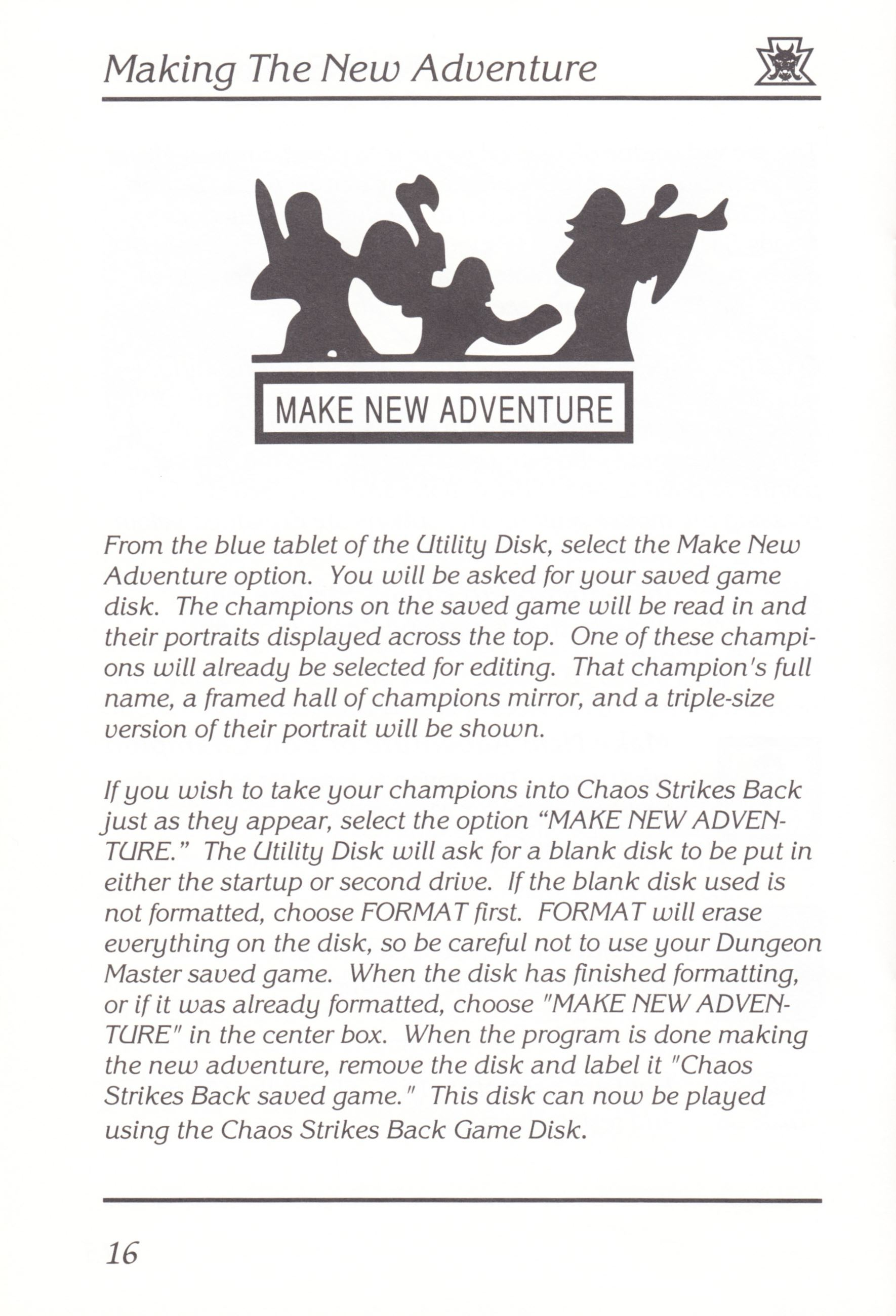 Game - Chaos Strikes Back - UK - Amiga - Manual - Page 018 - Scan