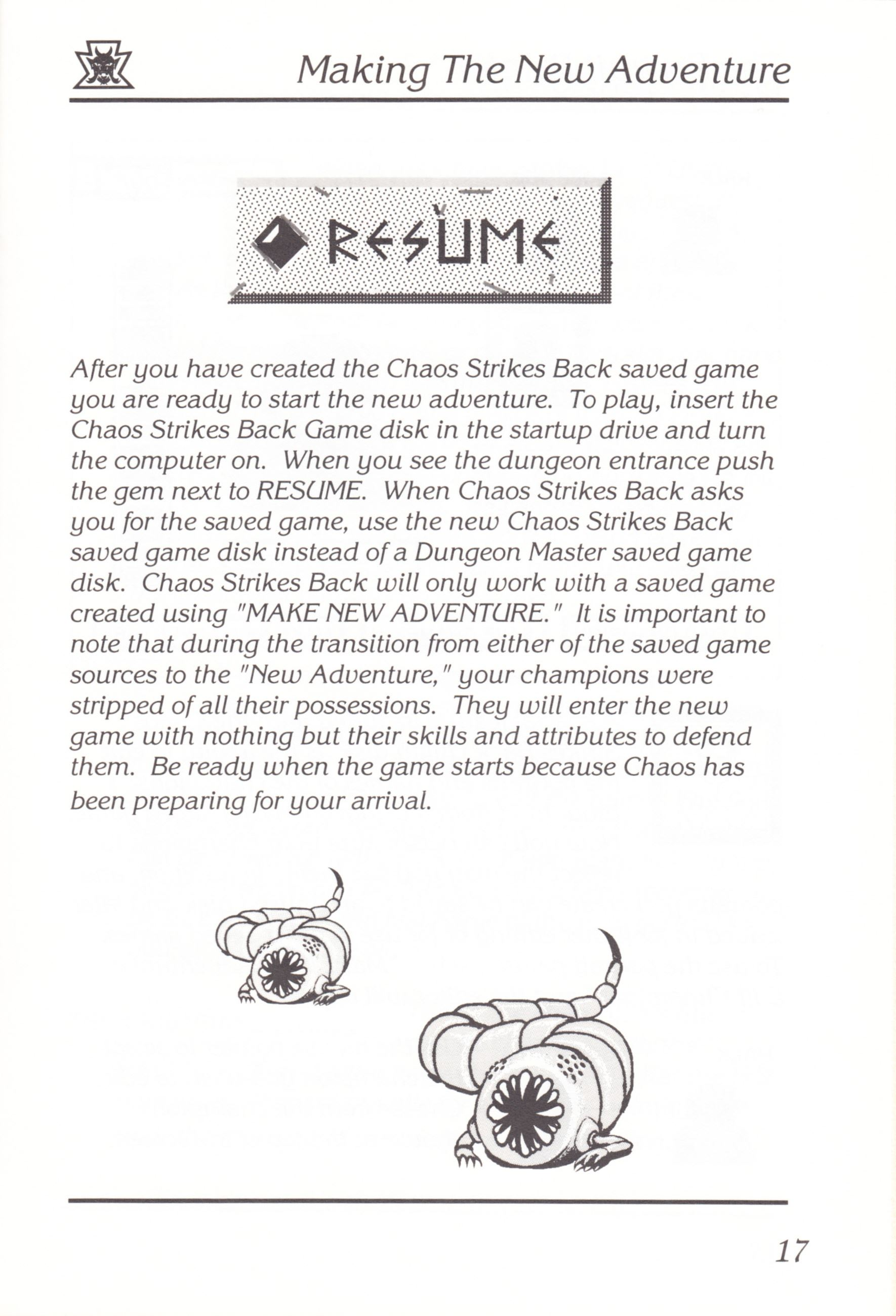 Game - Chaos Strikes Back - UK - Amiga - Manual - Page 019 - Scan