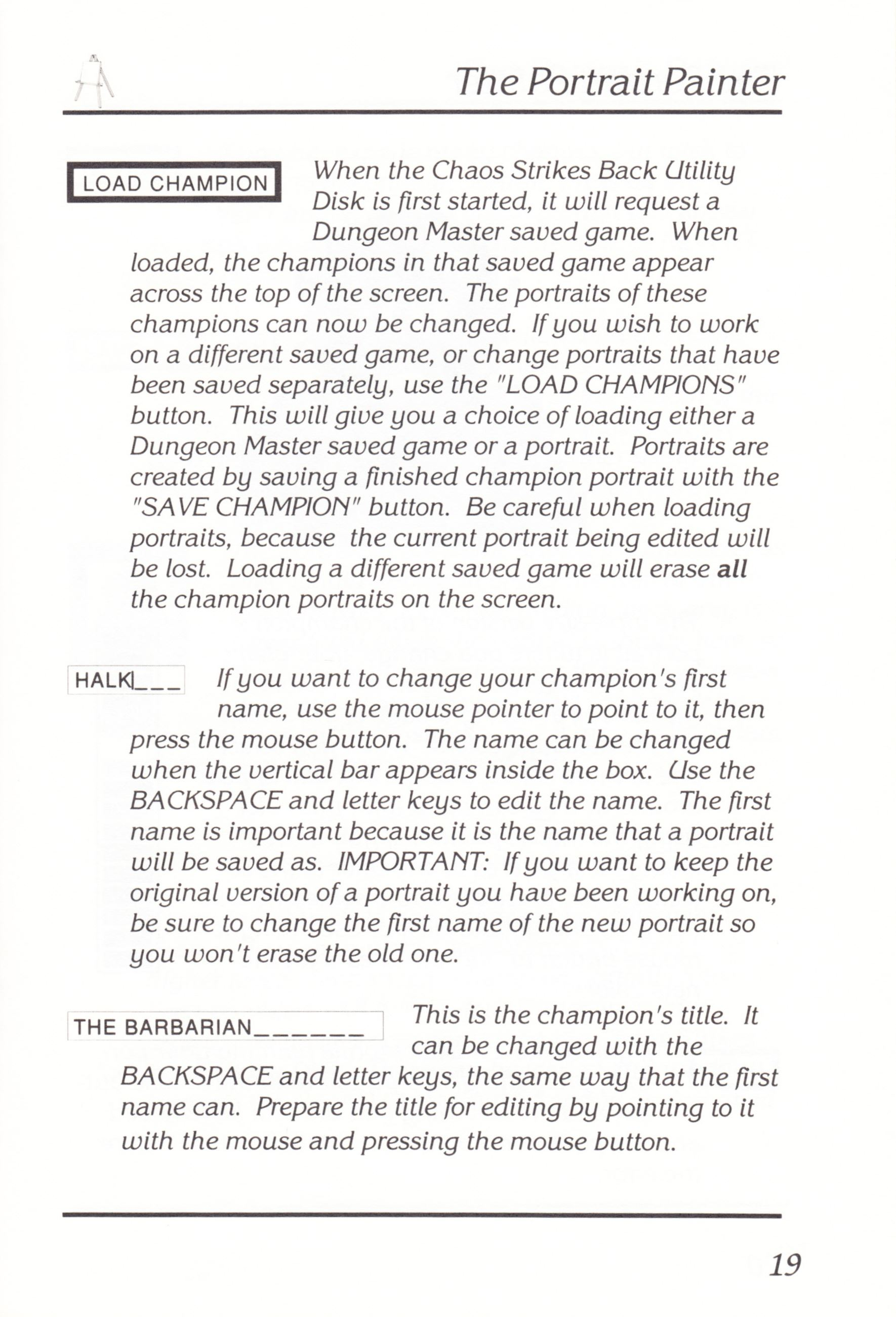 Game - Chaos Strikes Back - UK - Amiga - Manual - Page 021 - Scan