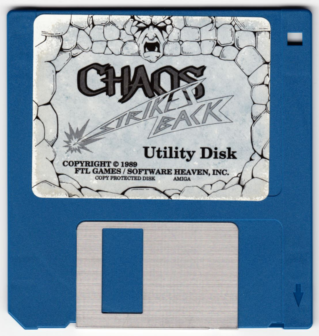 Game - Chaos Strikes Back - UK - Amiga - Utility Disk - Front - Scan