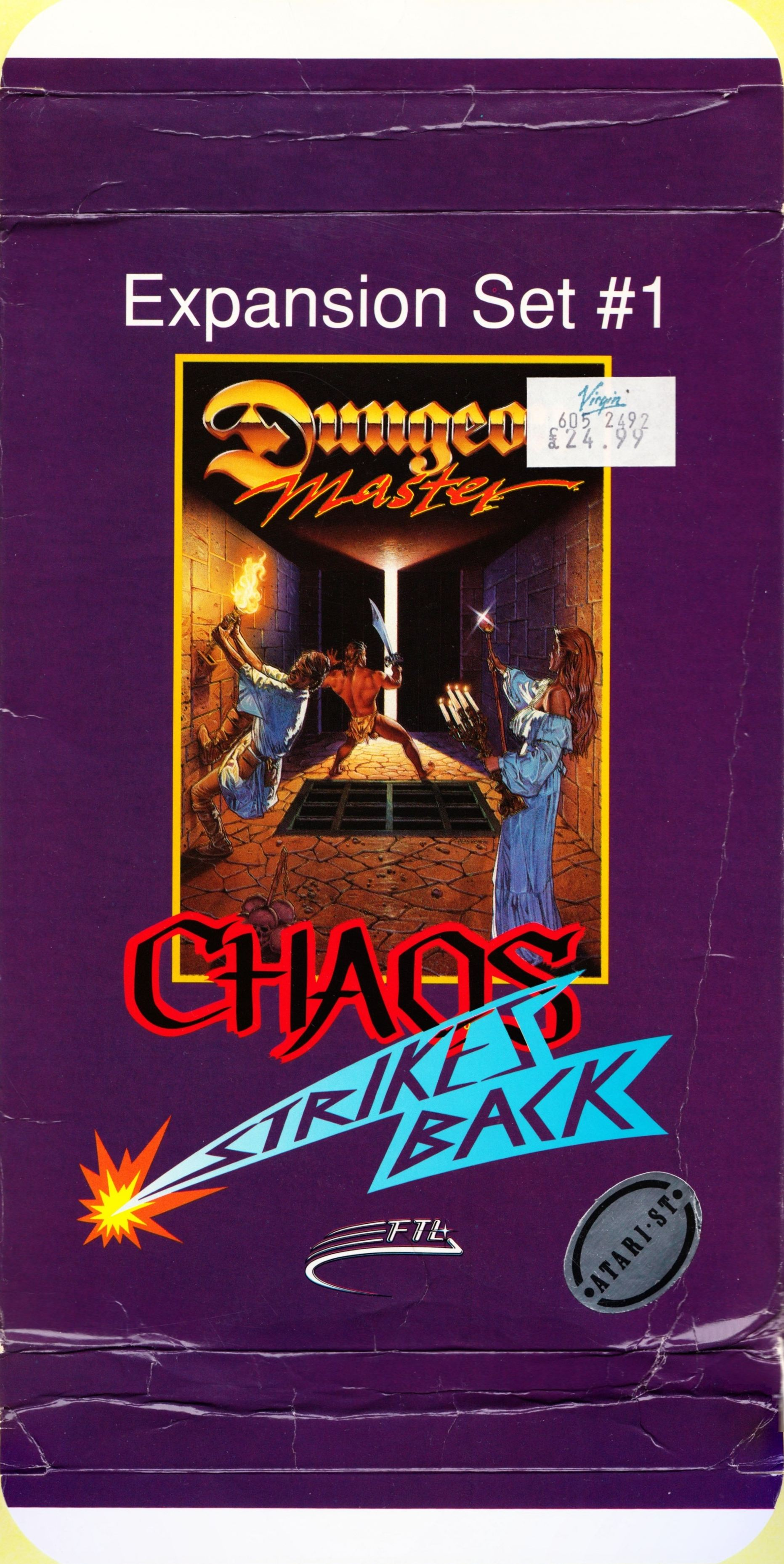 Game - Chaos Strikes Back - UK - Atari ST - Box - Front Top Bottom - Scan