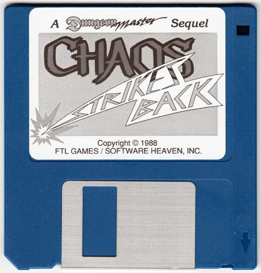 Game - Chaos Strikes Back - UK - Atari ST - Game Disk - Front - Scan