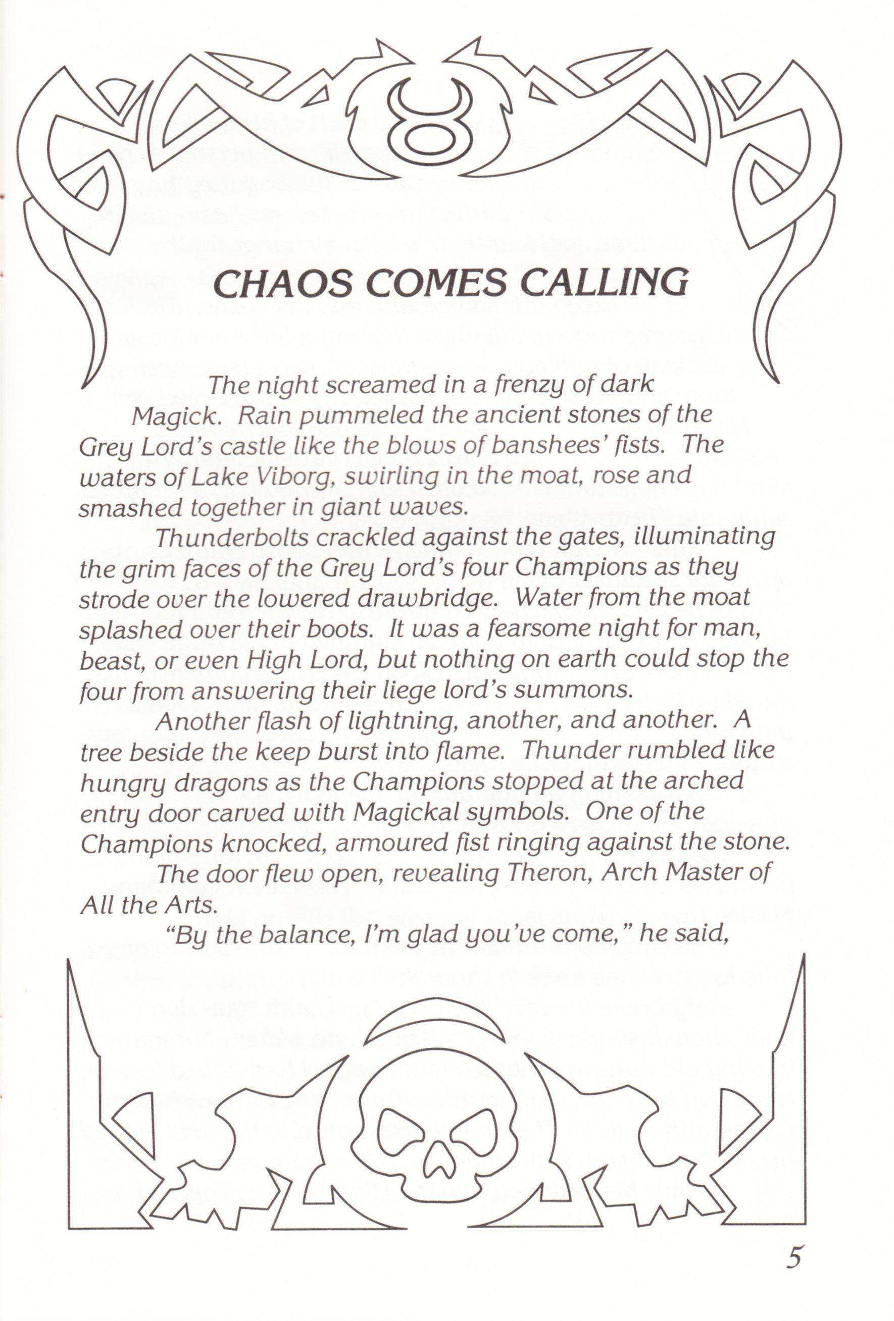 Game - Chaos Strikes Back - UK - Atari ST - Manual - Page 007 - Scan