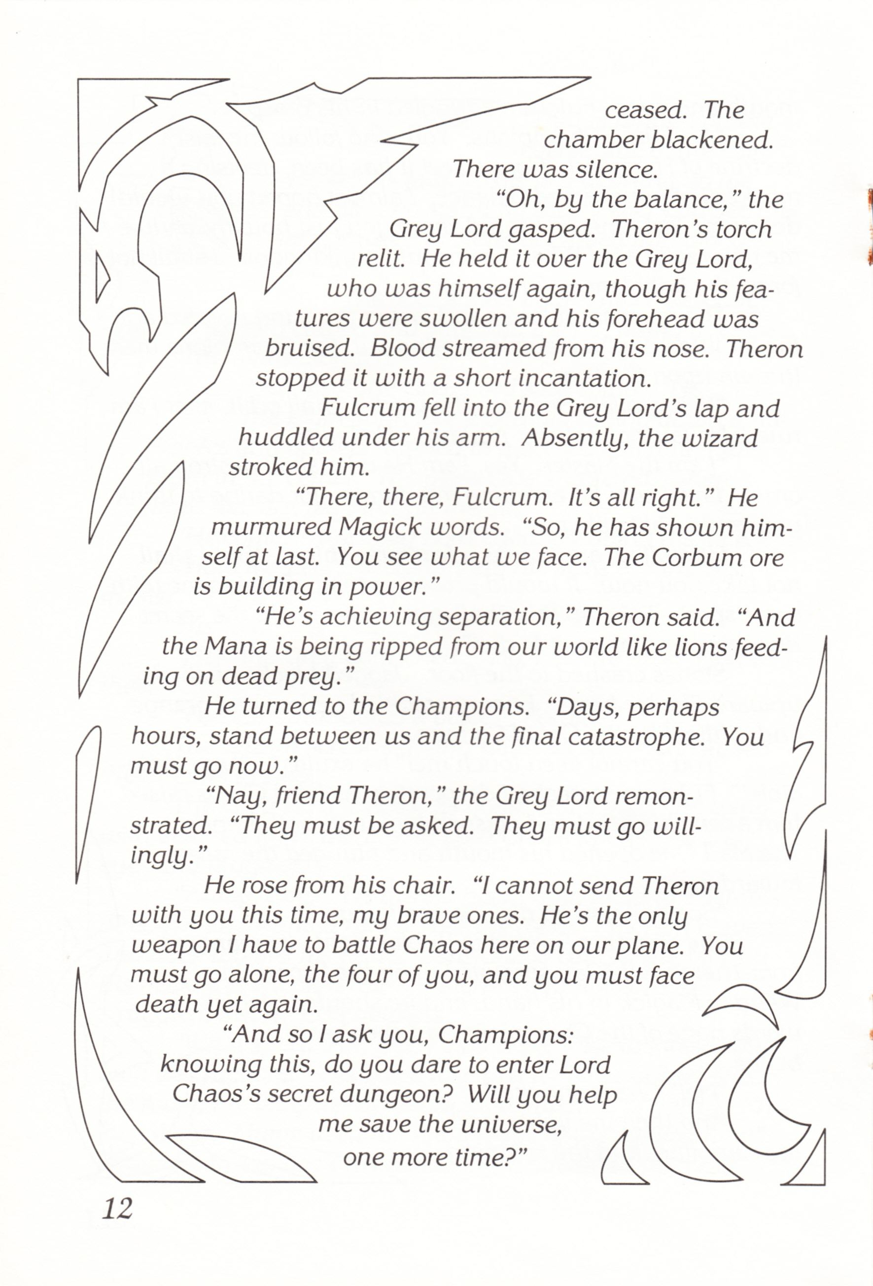 Game - Chaos Strikes Back - UK - Atari ST - Manual - Page 014 - Scan