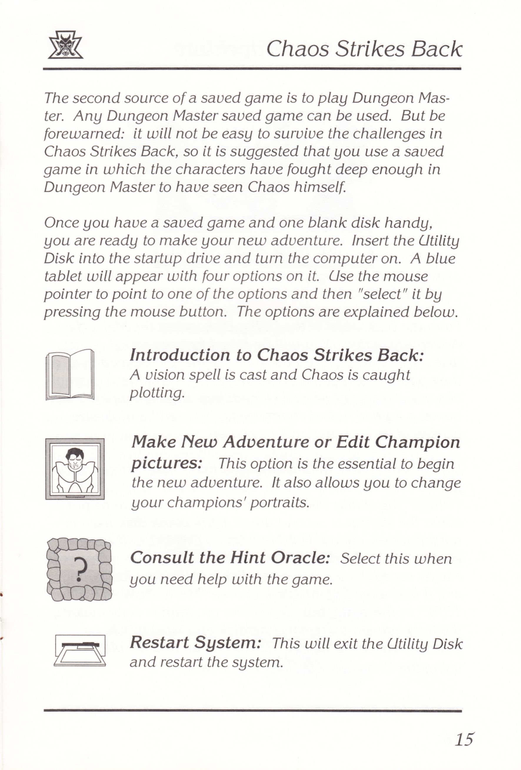 Game - Chaos Strikes Back - UK - Atari ST - Manual - Page 017 - Scan