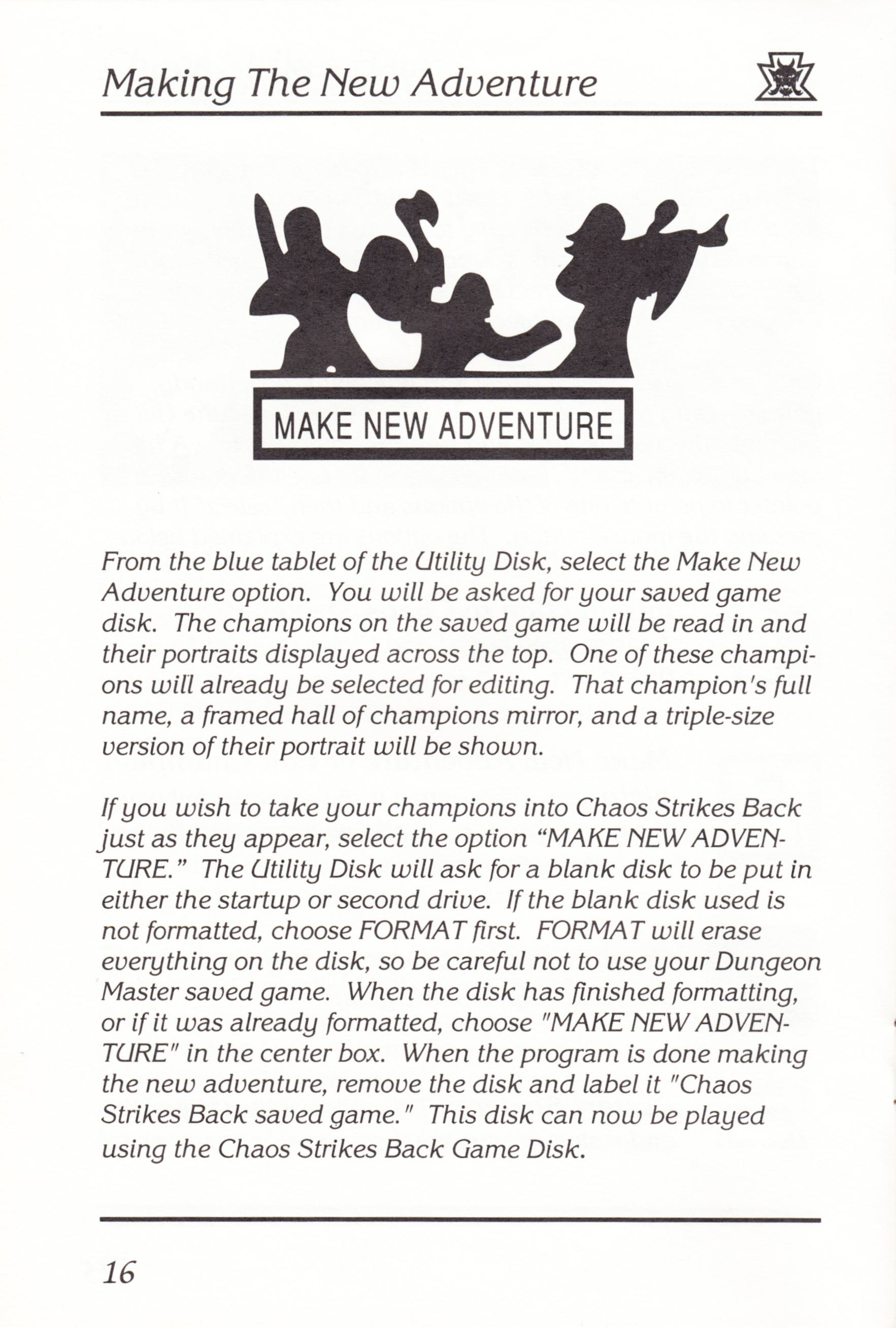 Game - Chaos Strikes Back - UK - Atari ST - Manual - Page 018 - Scan