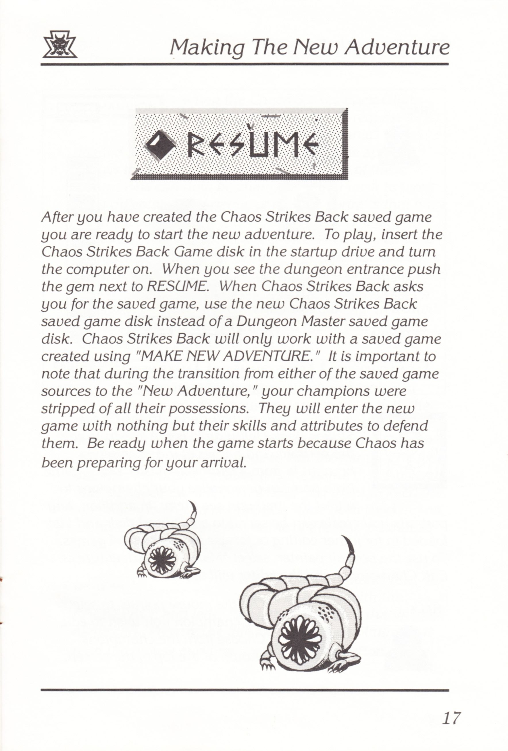 Game - Chaos Strikes Back - UK - Atari ST - Manual - Page 019 - Scan