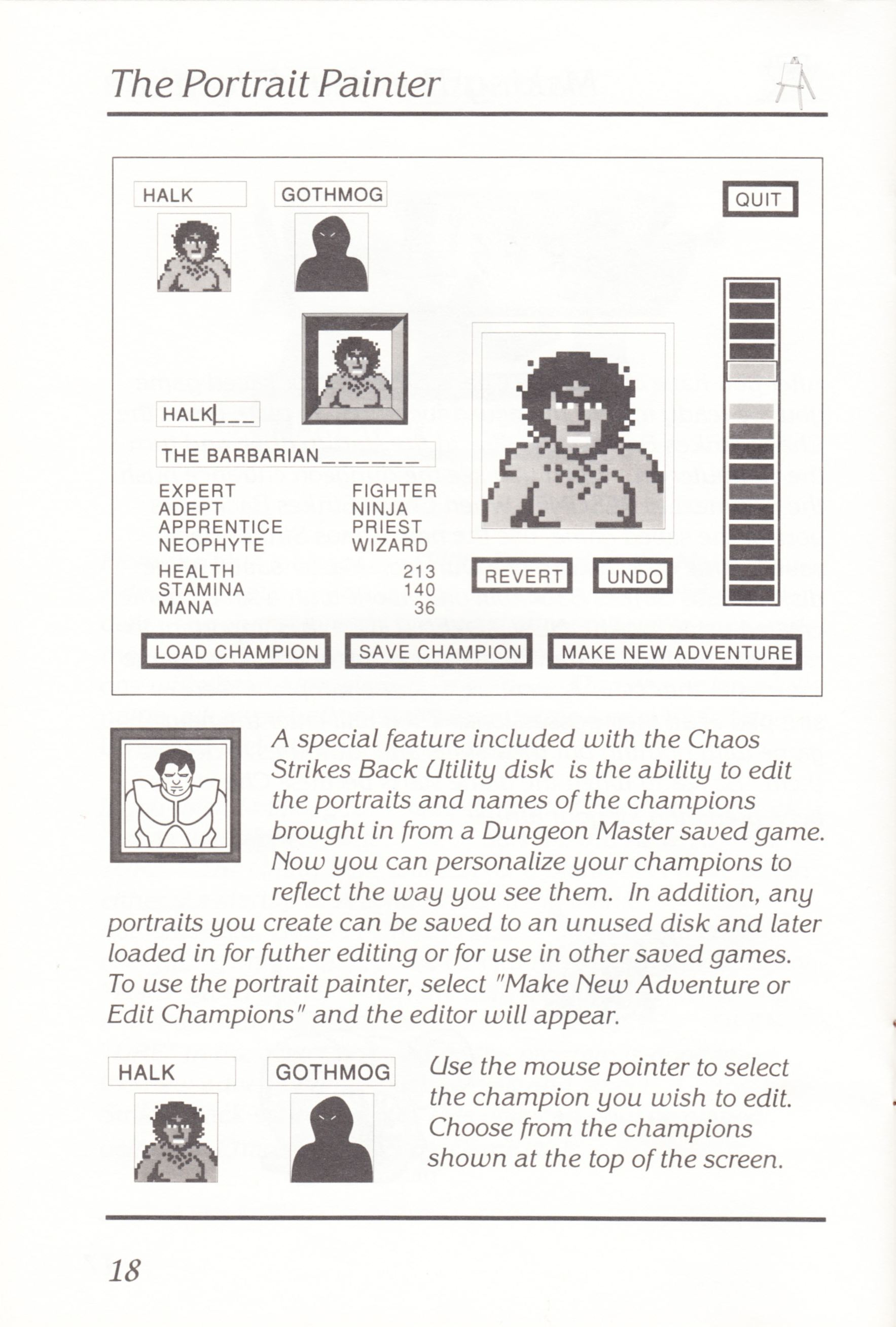 Game - Chaos Strikes Back - UK - Atari ST - Manual - Page 020 - Scan